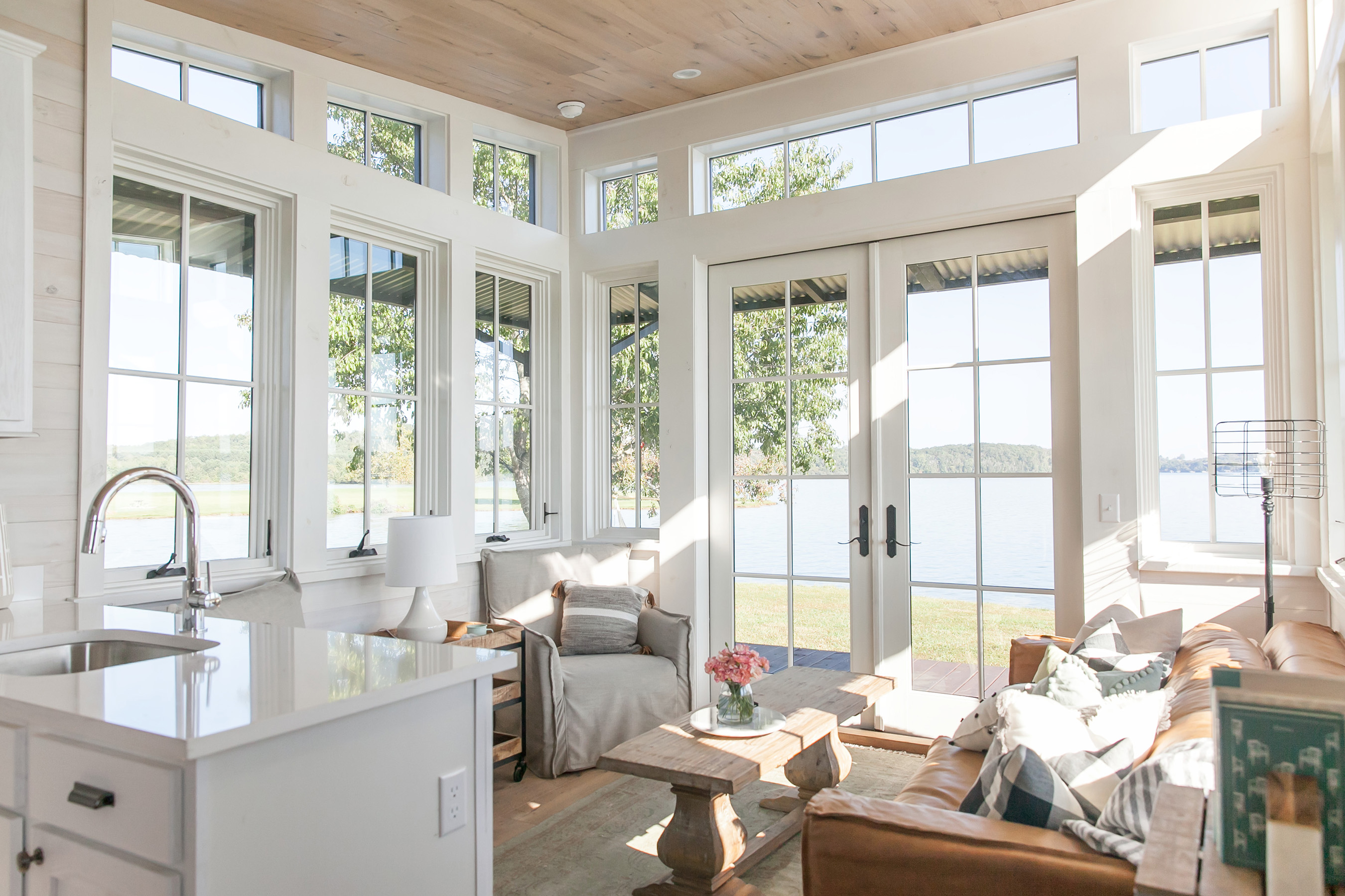 With windows surrounding the house, Saltbox owners can enjoy 270-degree views year-round.