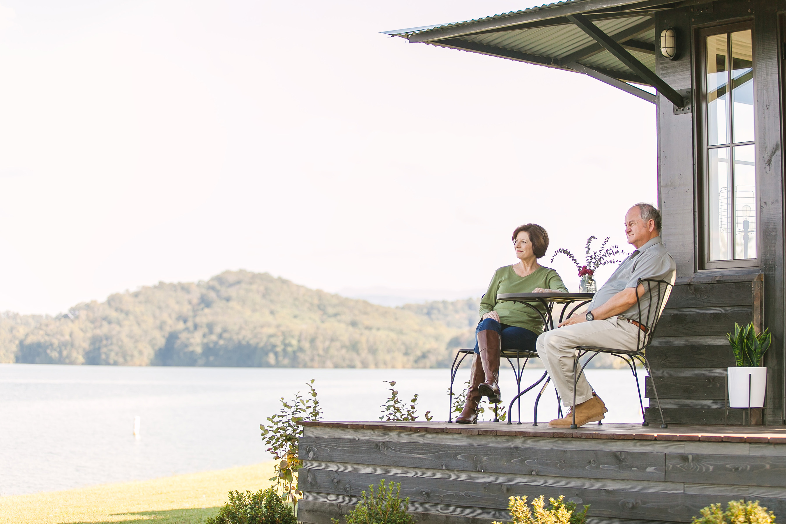 The Saltbox provides outdoor living spaces that can be enjoyed during any season.