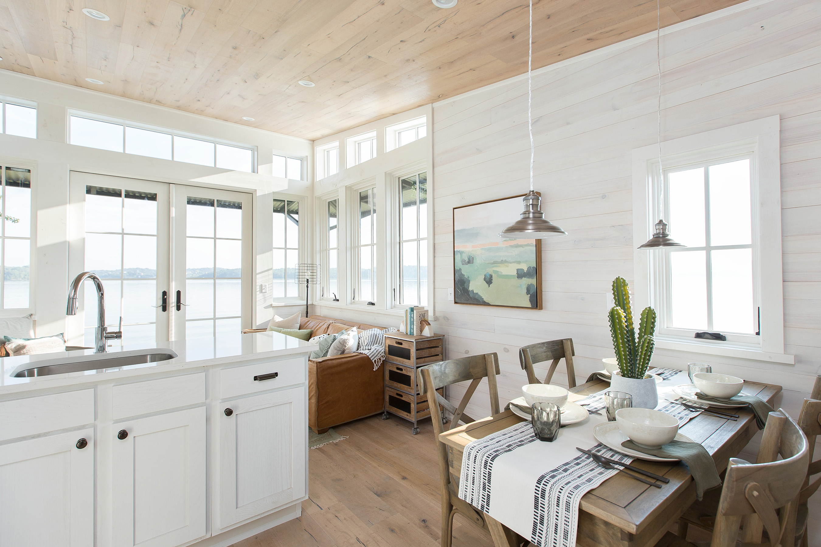 The Saltbox incorporates elegant, modern design features and top-of-the-line appliances.