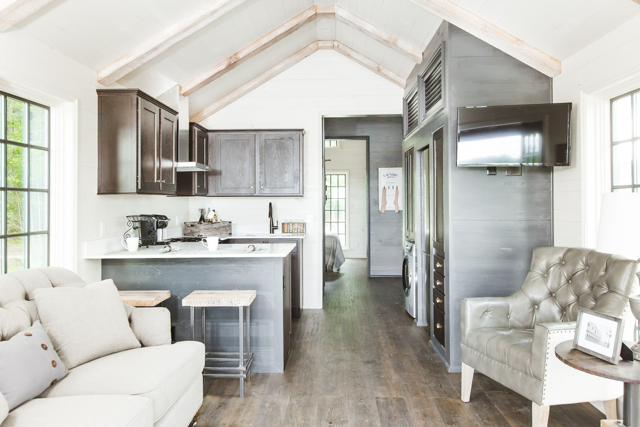 Inside tiny homes venitism for Designer homes com