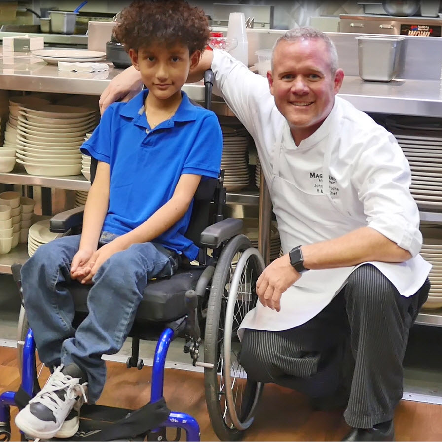 Brunch With A Purpose to help Maggiano's raise more than $1 million; enough to help grant their 1,000th wish for children like Joshua