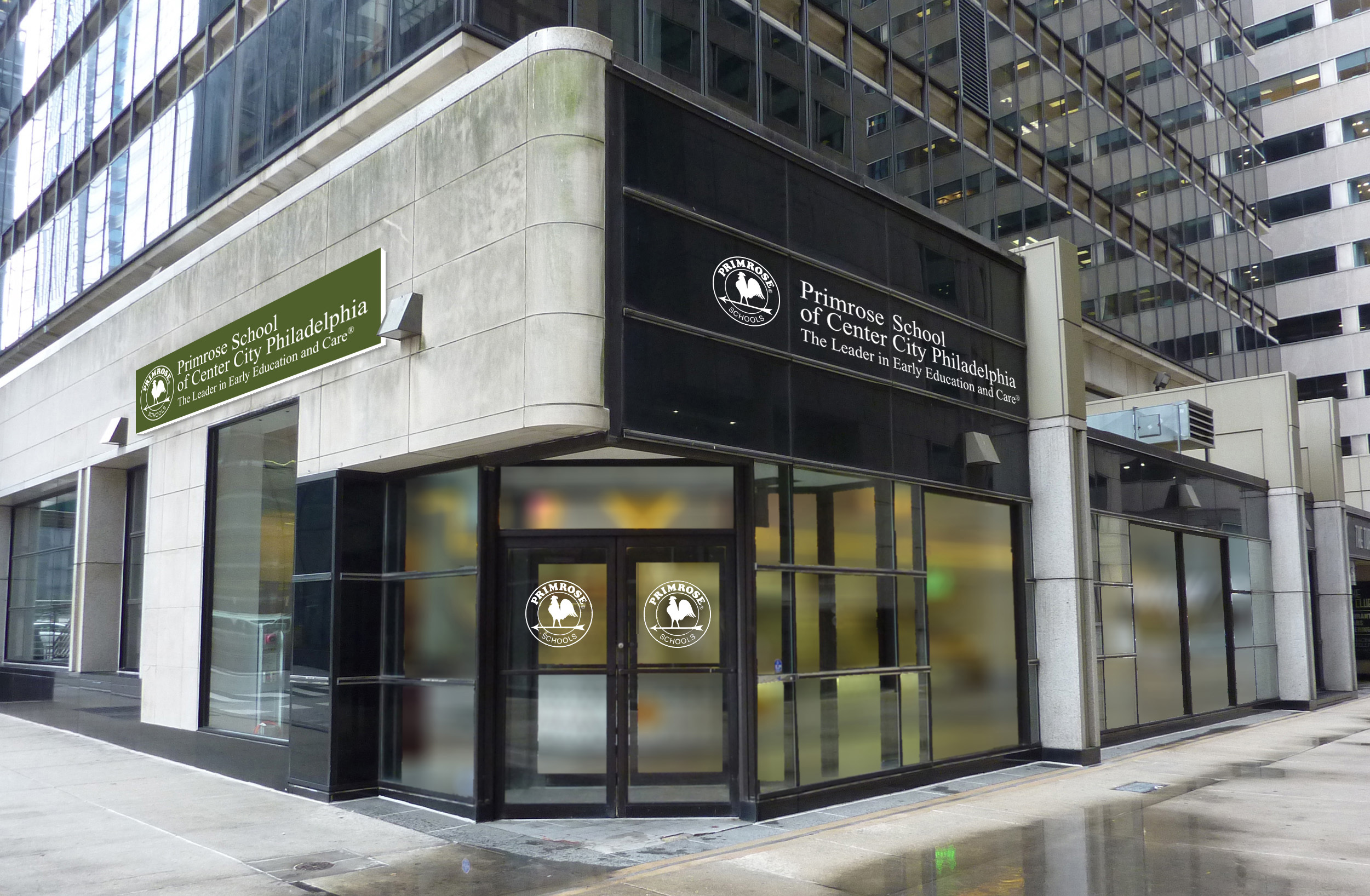 Primrose School of Center City is an urban school in downtown Philadelphia. The school is located within the plaza level of a high-rise office building along with other retailers.
