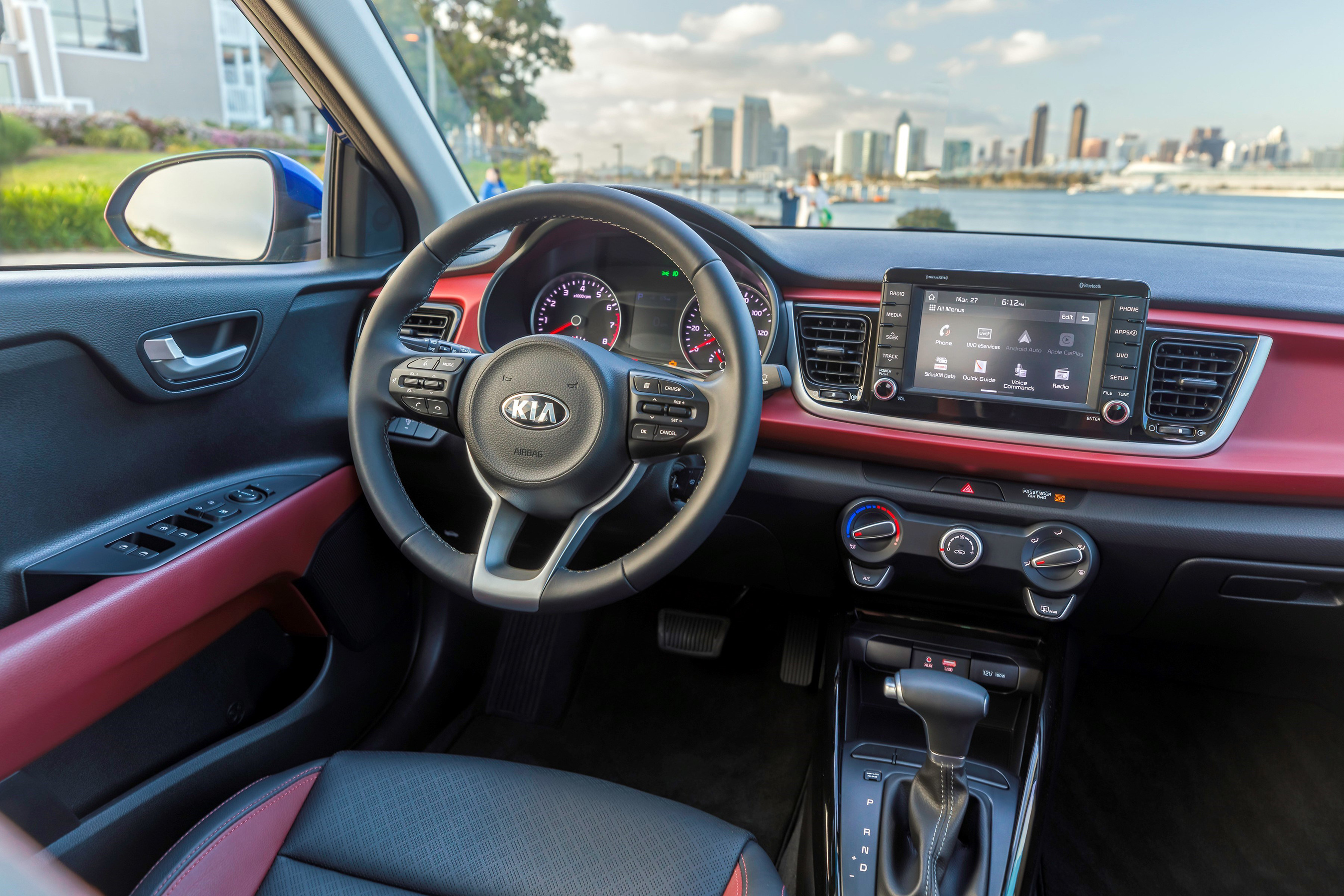 All-new 2018 Kia Rio features available upscale convenience technologies such as a seven-inch touchscreen interface and UVO3 with Apple CarPlayTM and Android AutoTM.