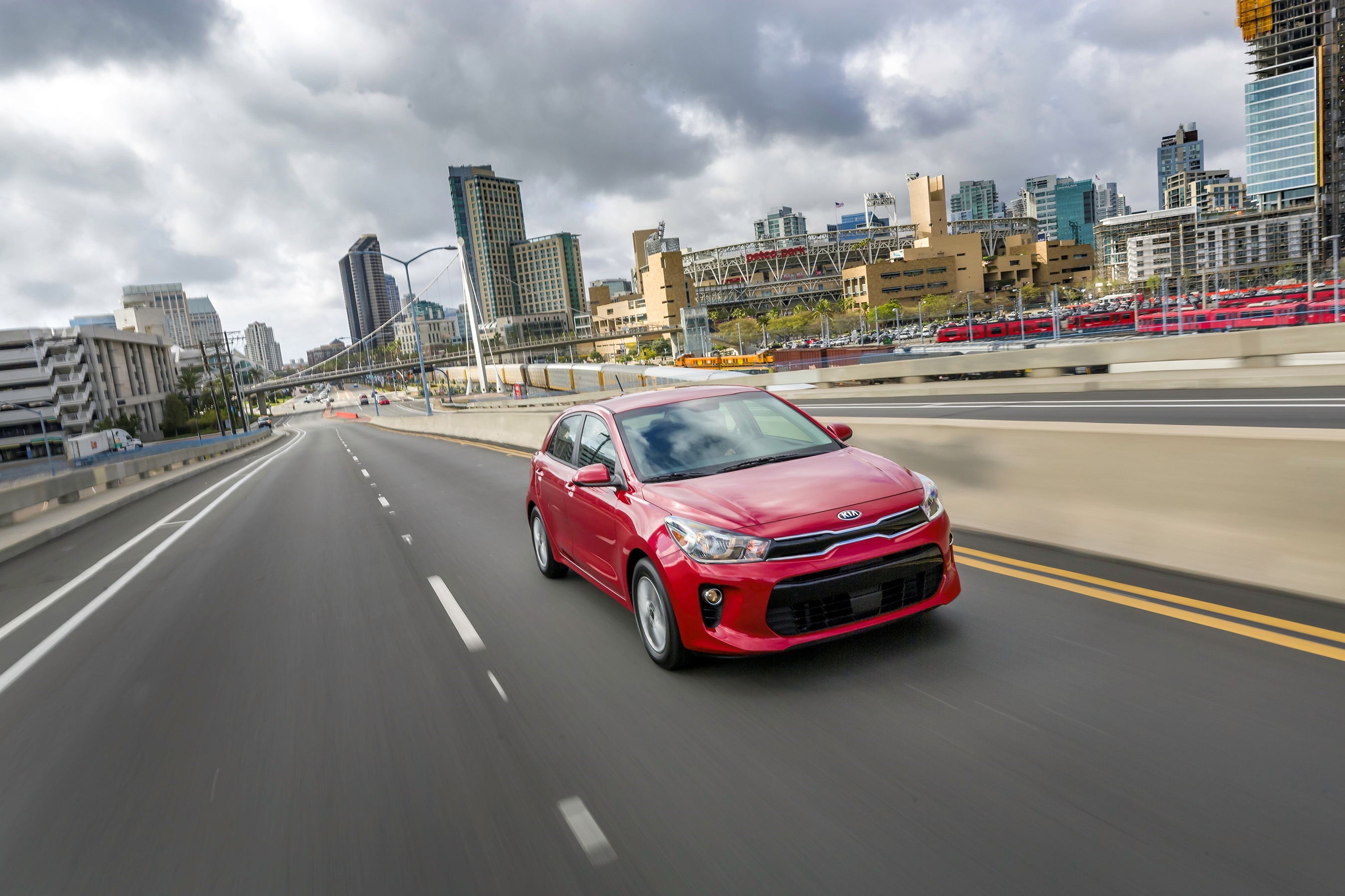 Fourth-generation Kia Rio subcompacts tout sporty design, greater comfort, more room and refined ride.