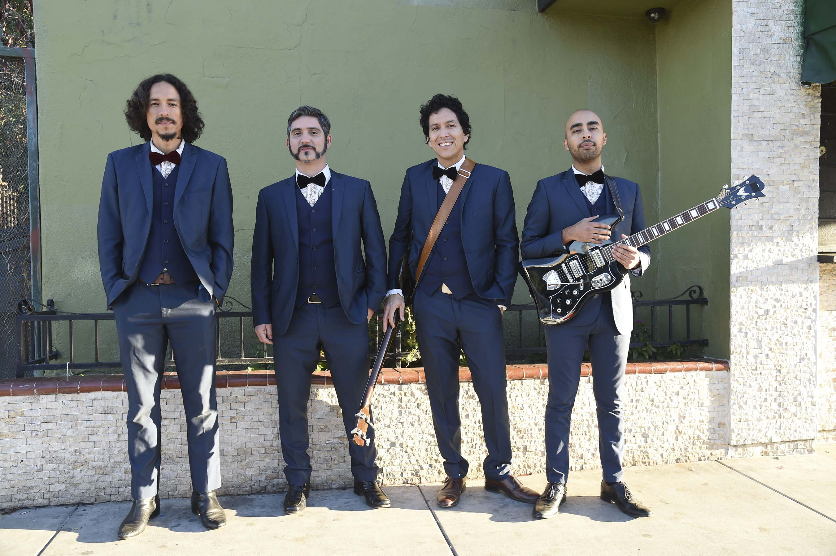LA-based soul band, Chicano Batman, reinterprets the iconic American anthem, 'This Land Is Your Land,' in support of Johnnie Walker's new Keep Walking America campaign (Michael Kovac/Getty Images).