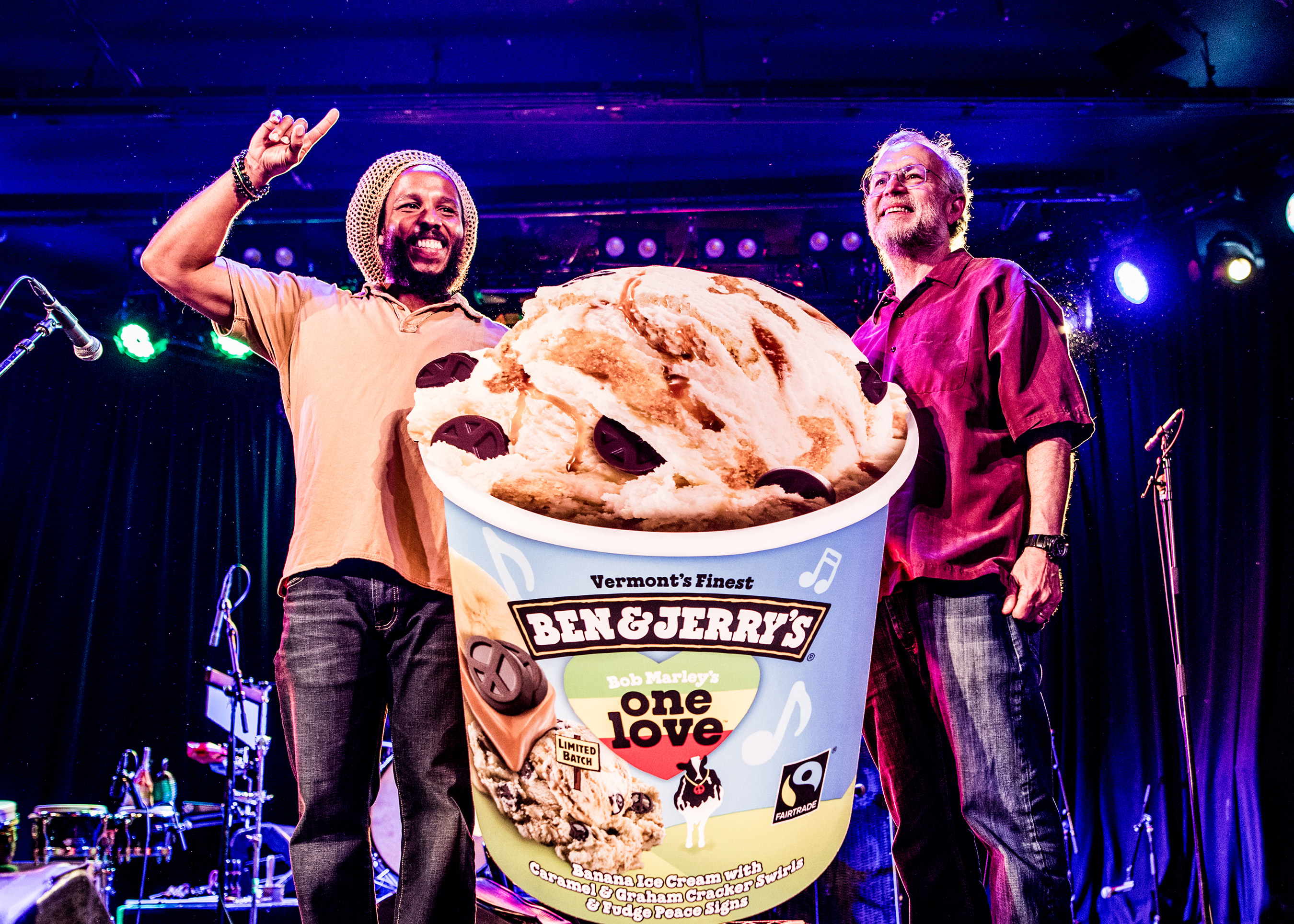 Ben & Jerry's and Ziggy Marley celebrated the launch of the new One Love limited batch flavor available at Scoop Shops and retailers nationwide in Los Angeles at the Roxy Theatre on Monday, May 22.