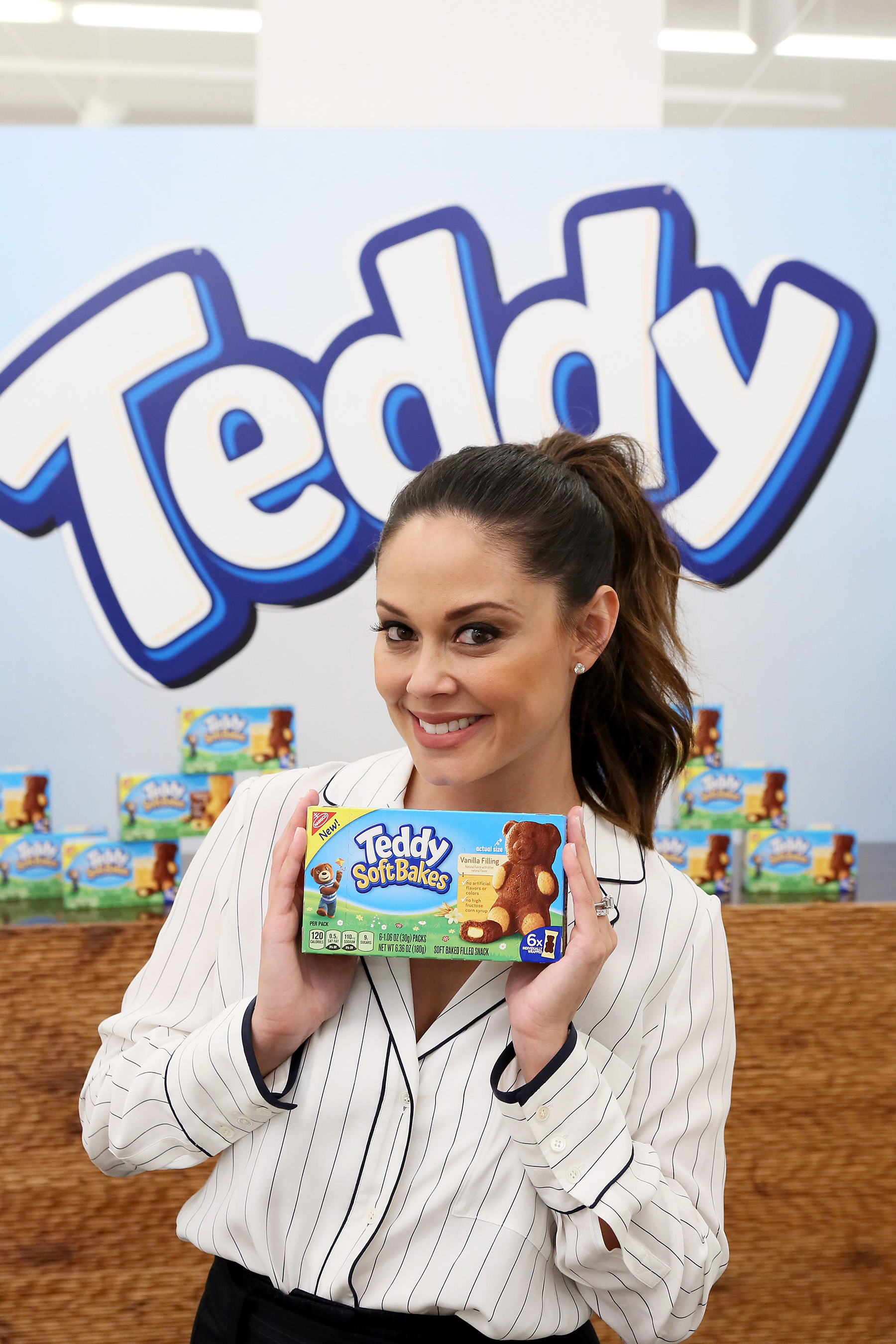 Vanessa Lachey had fun celebrating the launch of TEDDY Soft Bakes at the Children's Museum of the Arts on Wednesday, Feb. 15, 2017, in New York City. (Stuart Ramson/AP Images for Mondelez International)