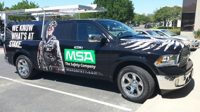 MSA's mobile training feet.
