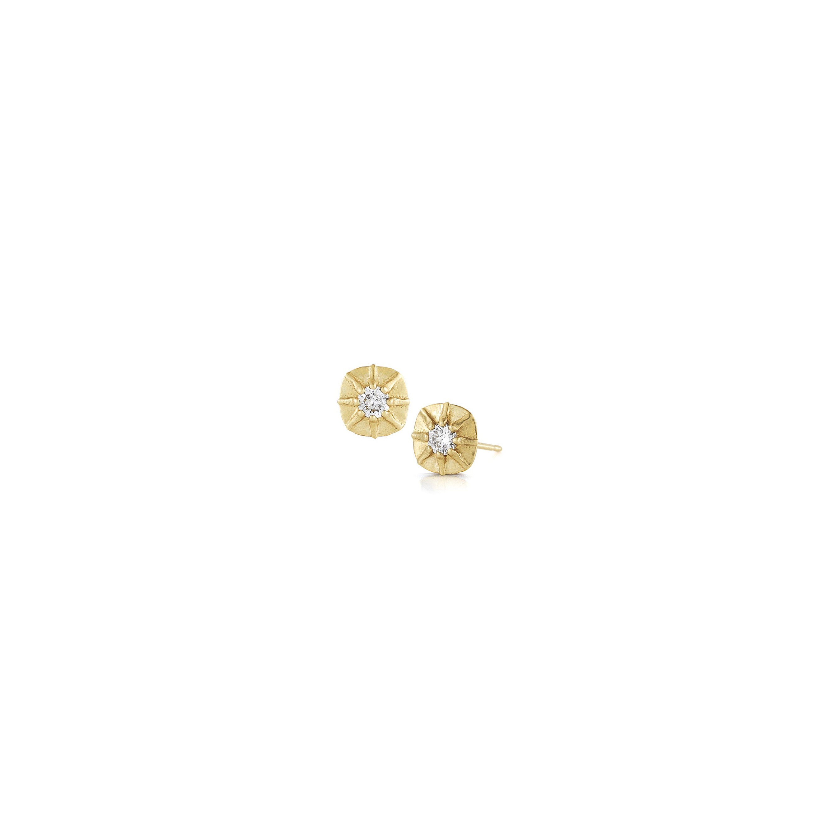 gold for real cluster certified stud white natural diamond earrings abelini the women best carat round