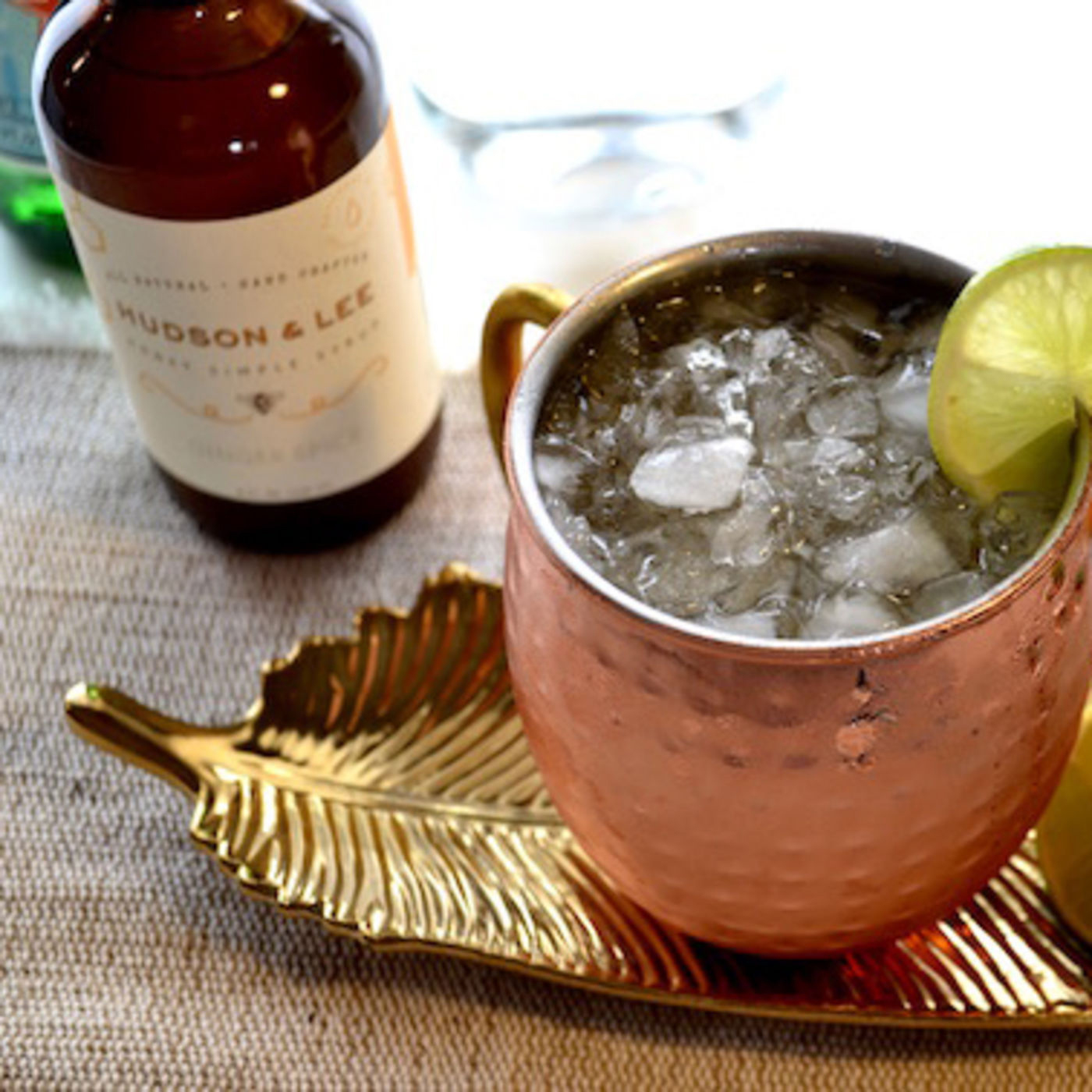 Make the perfect Moscow mule with Hudson & Lee ginger honey simple syrup
