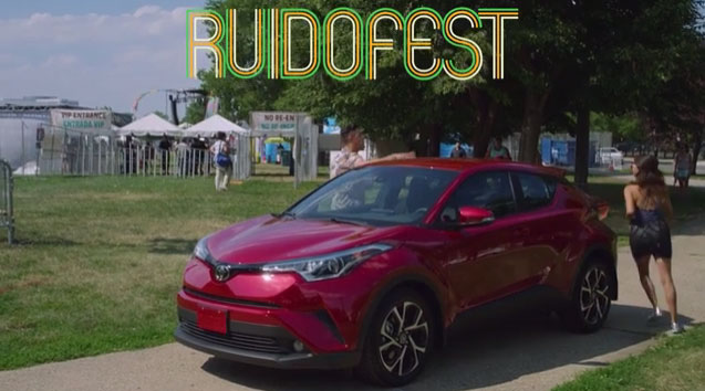 The Toyota Music Den shined the spotlight on a lineup of emerging artists at Ruido Fest 2017 that included DJs Tom & Collins, DJ El Dusty, Victoria La Mala, among others.