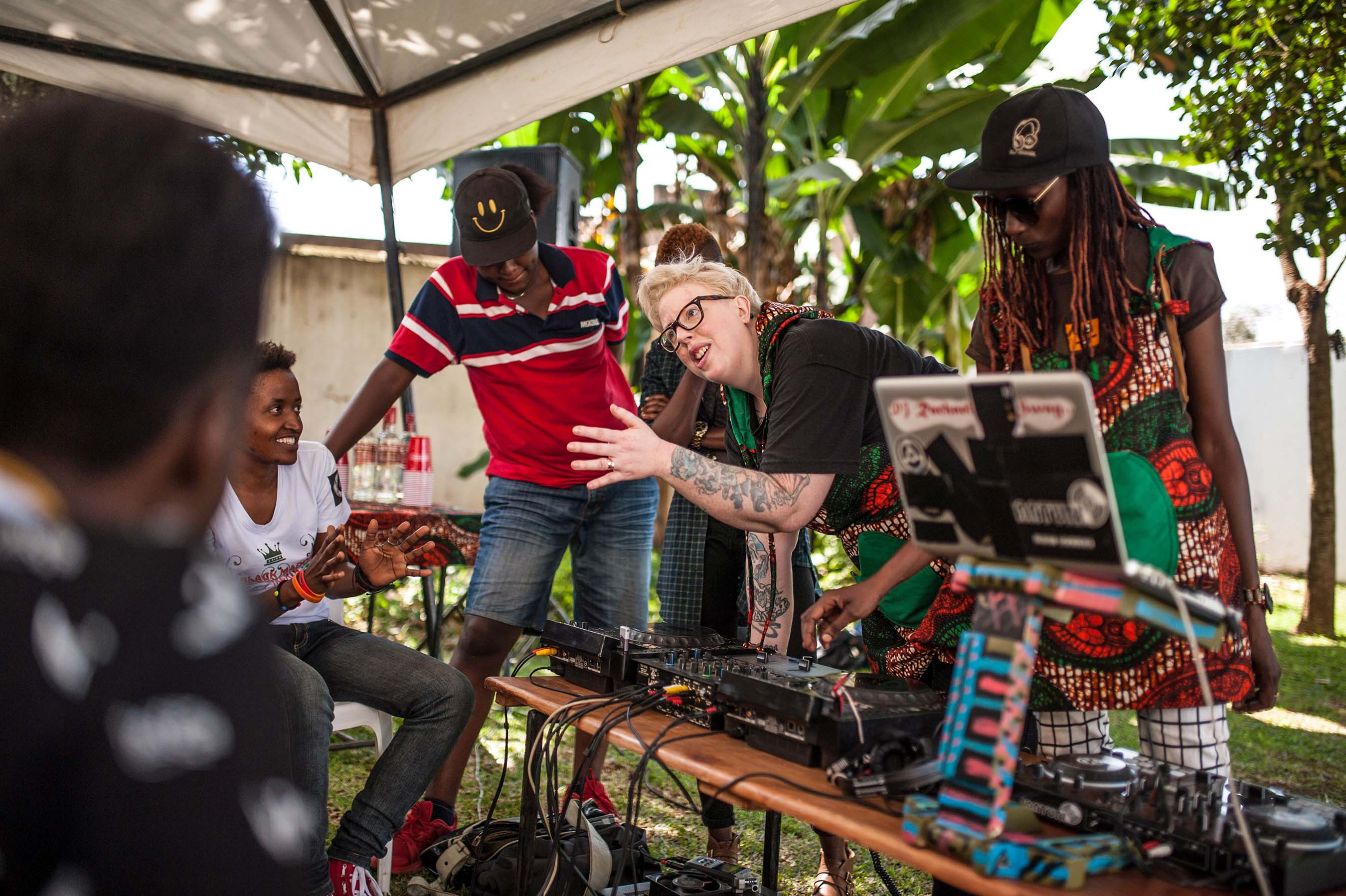"The Black Madonna and DJ Rachael teach other women about their passion while filming ""SMIRNOFF: Equalizing Music"" in Uganda"
