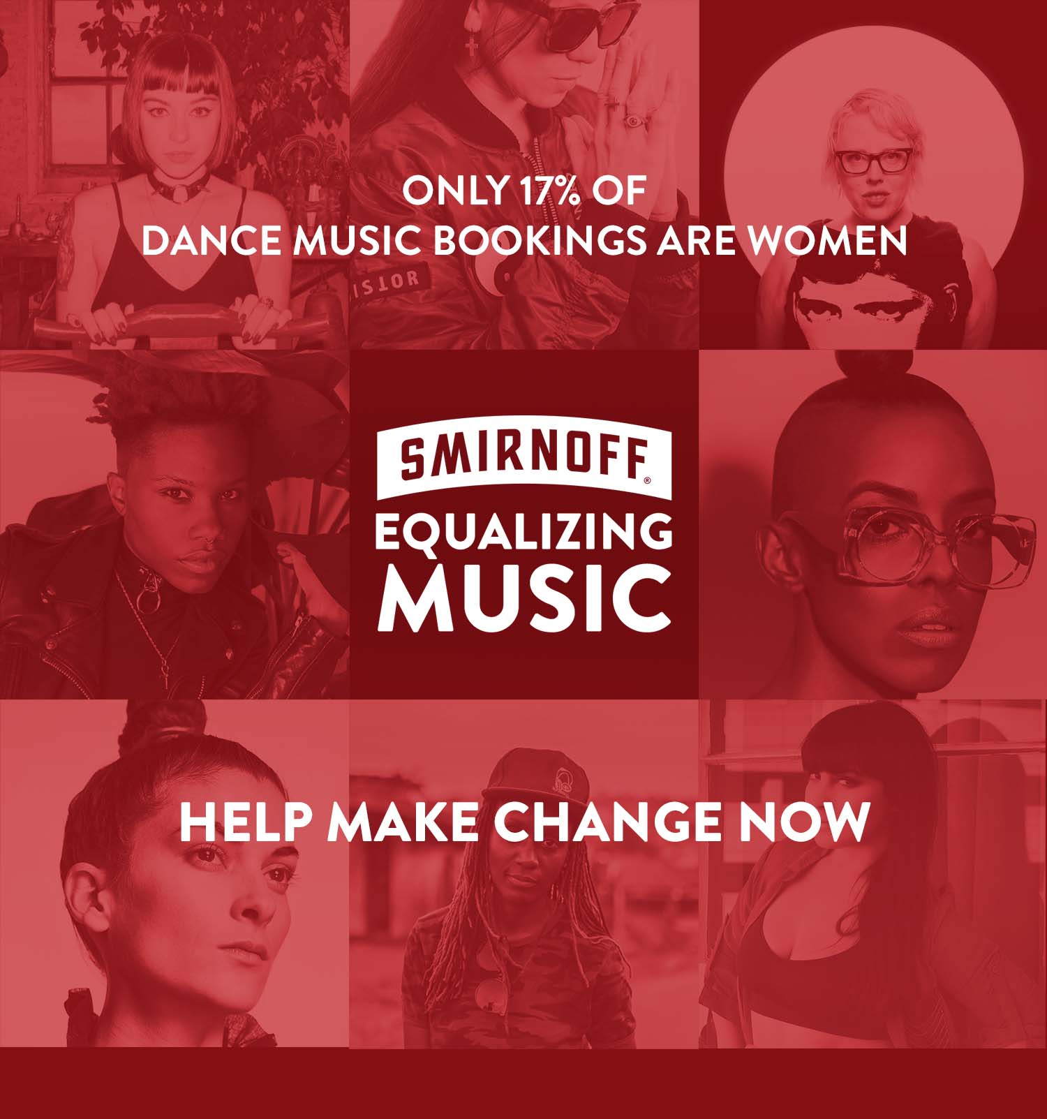 "SMIRNOFF worked with Spotify to curate a playlist of tracks by influential woman-identified talent from the ""Top 50 Women Making Noise"" list"