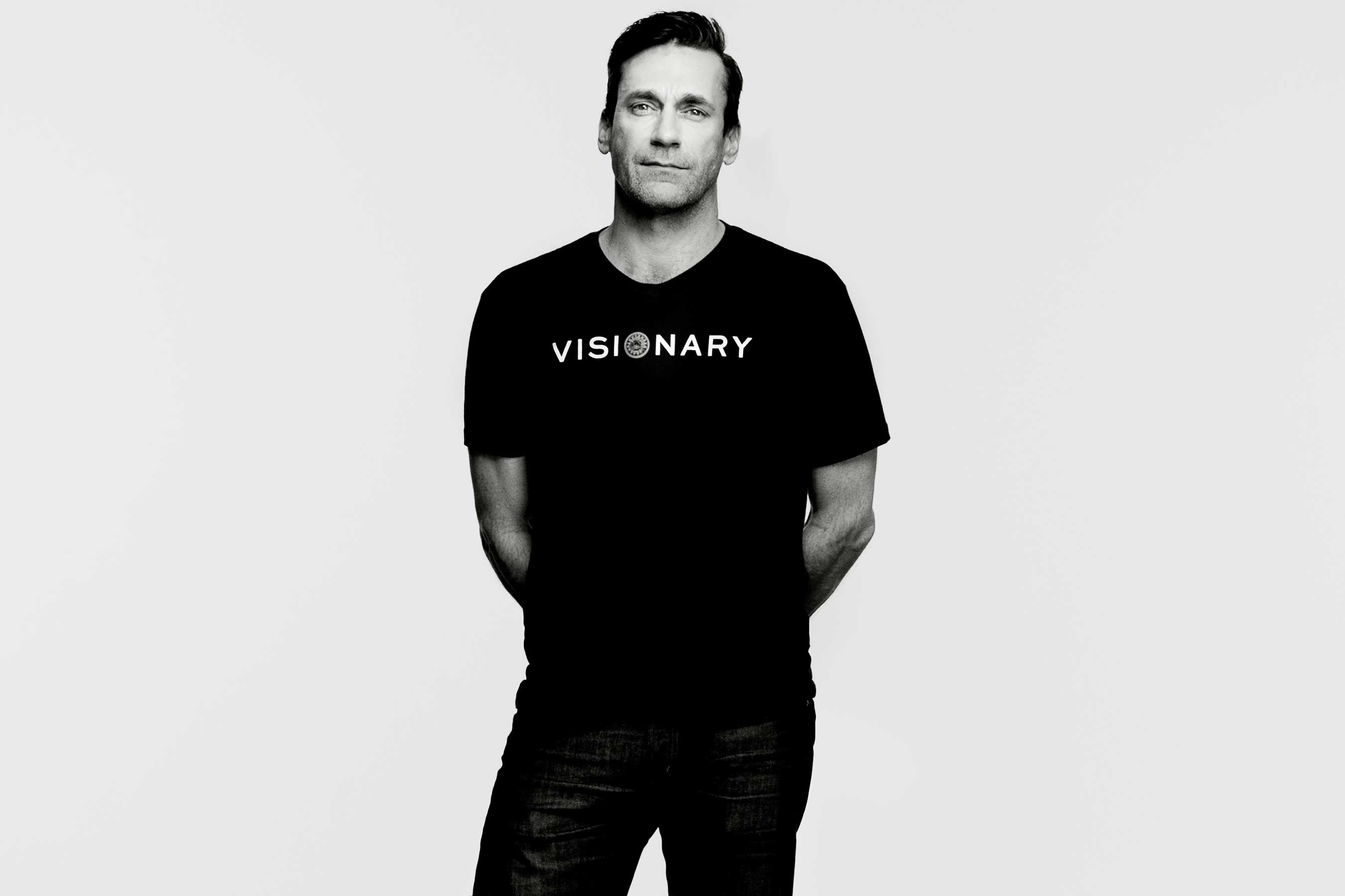 Jon Hamm encourages women to Embrace Ambition in a Tory Burch Foundation PSA video.