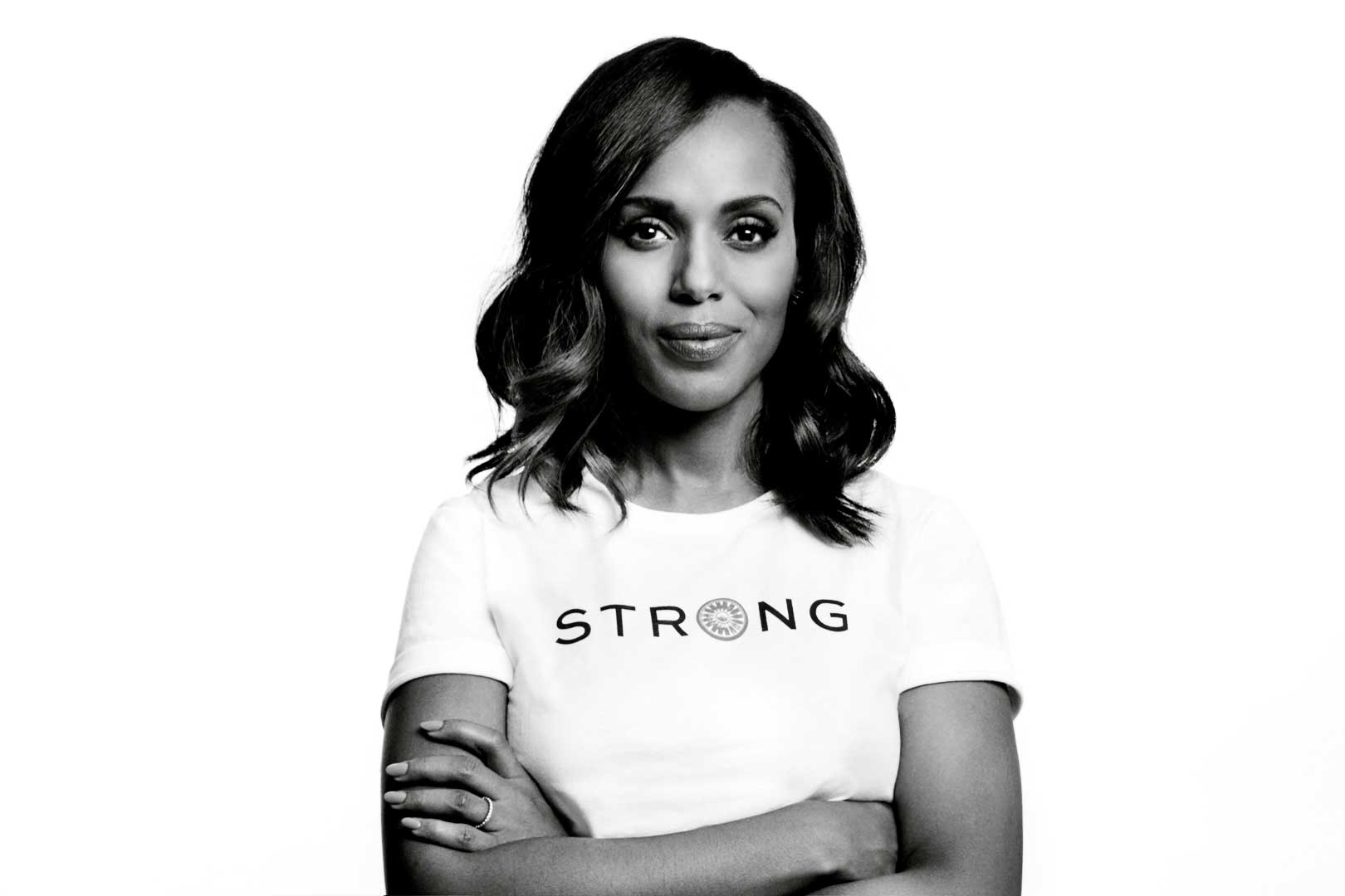 """Don't apologize."" Kerry Washington offers her advice to women in a Tory Burch Foundation PSA video that encourages women to Embrace Ambition on International Women's Day."