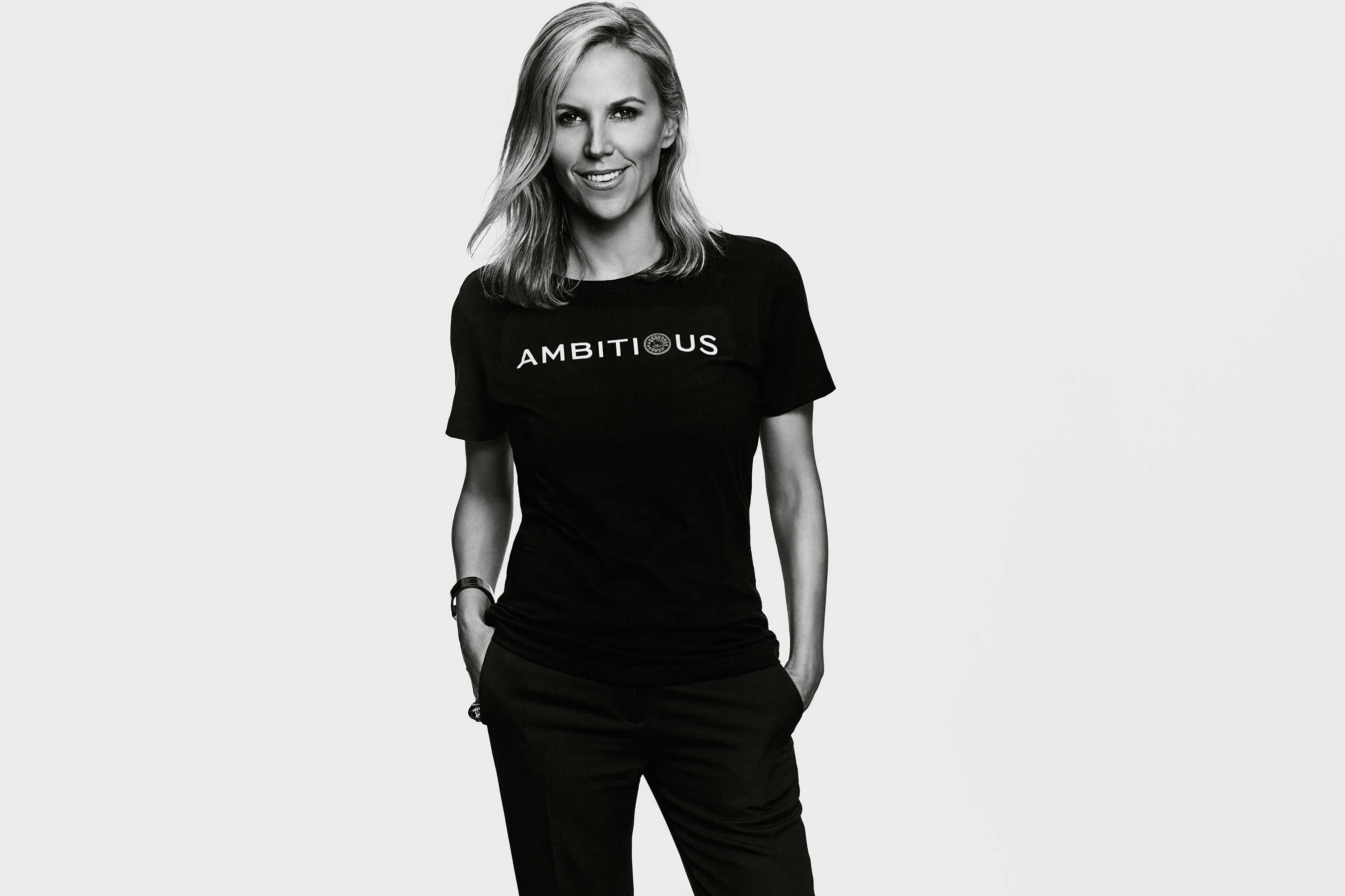 Tory Burch, founder of the Tory Burch Foundation, launched the #EmbraceAmbition campaign on International Women's Day to encourage women to embrace ambition.