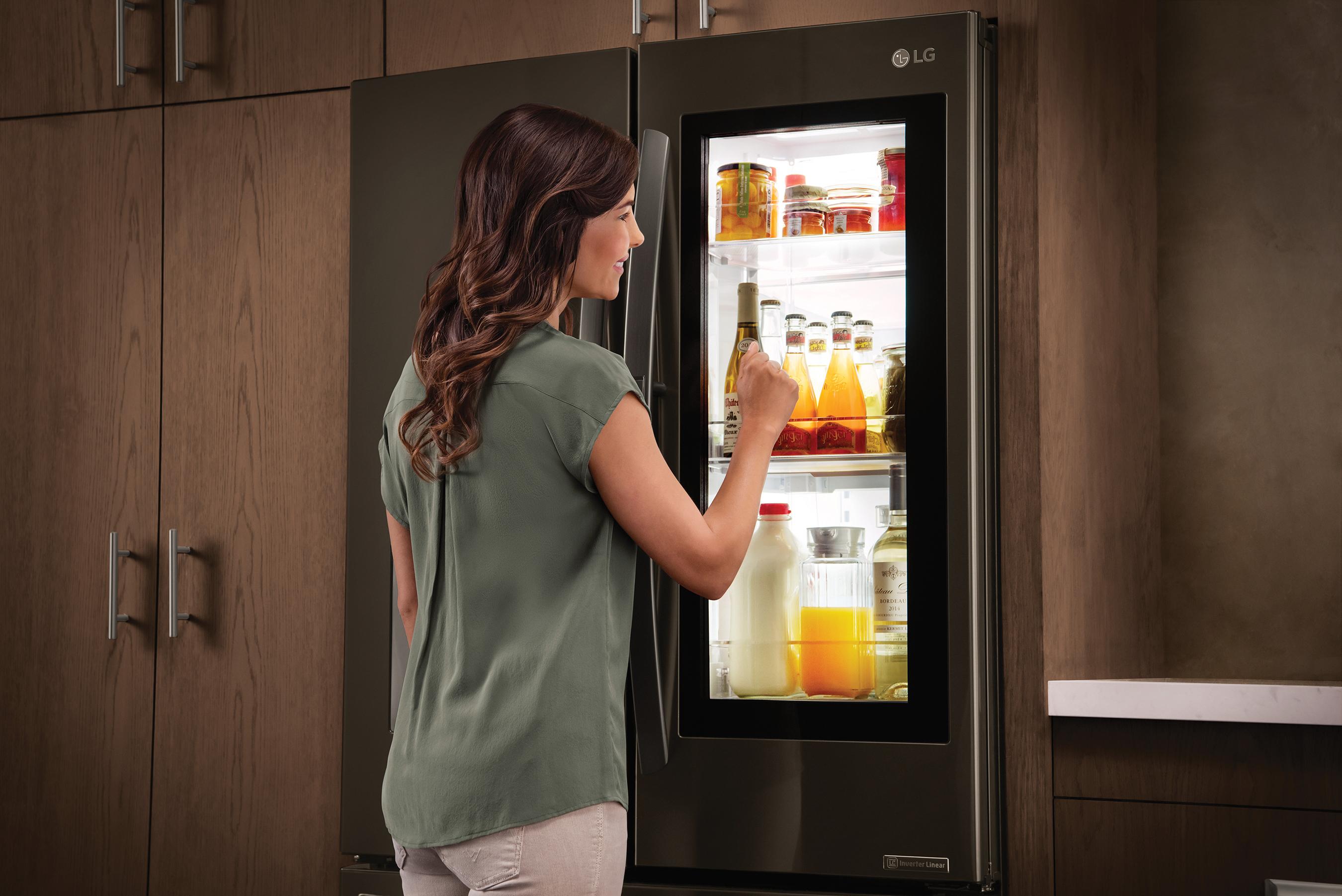 LG InstaView Refrigerator Lifestyle Image