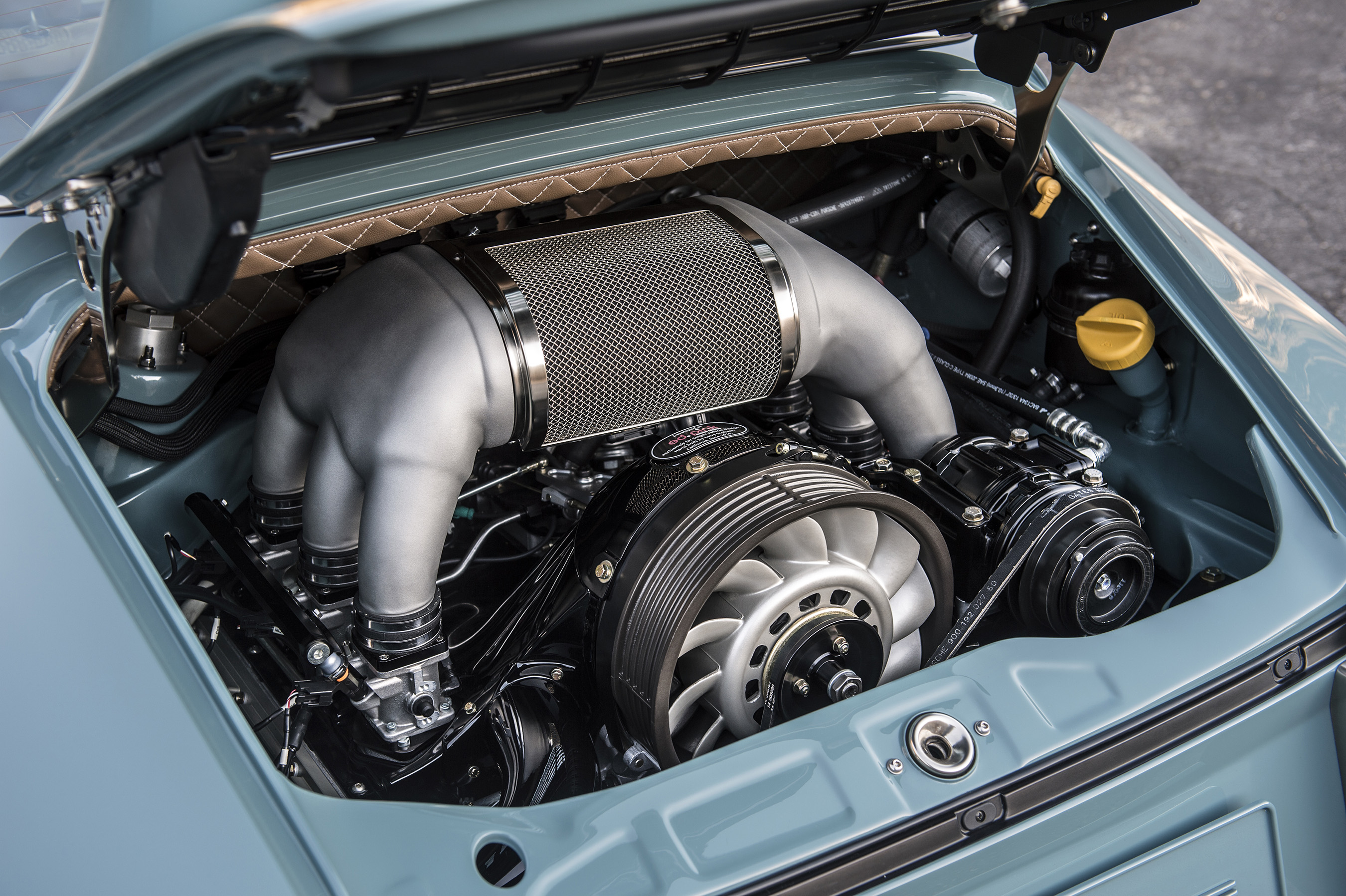 This beautifully designed flat six air-cooled 4.0-liter, 390hp jewel of an engine by world-renowned Ed Pink Racing Engines, is developed exclusively for customers of Singer Vehicle Design.