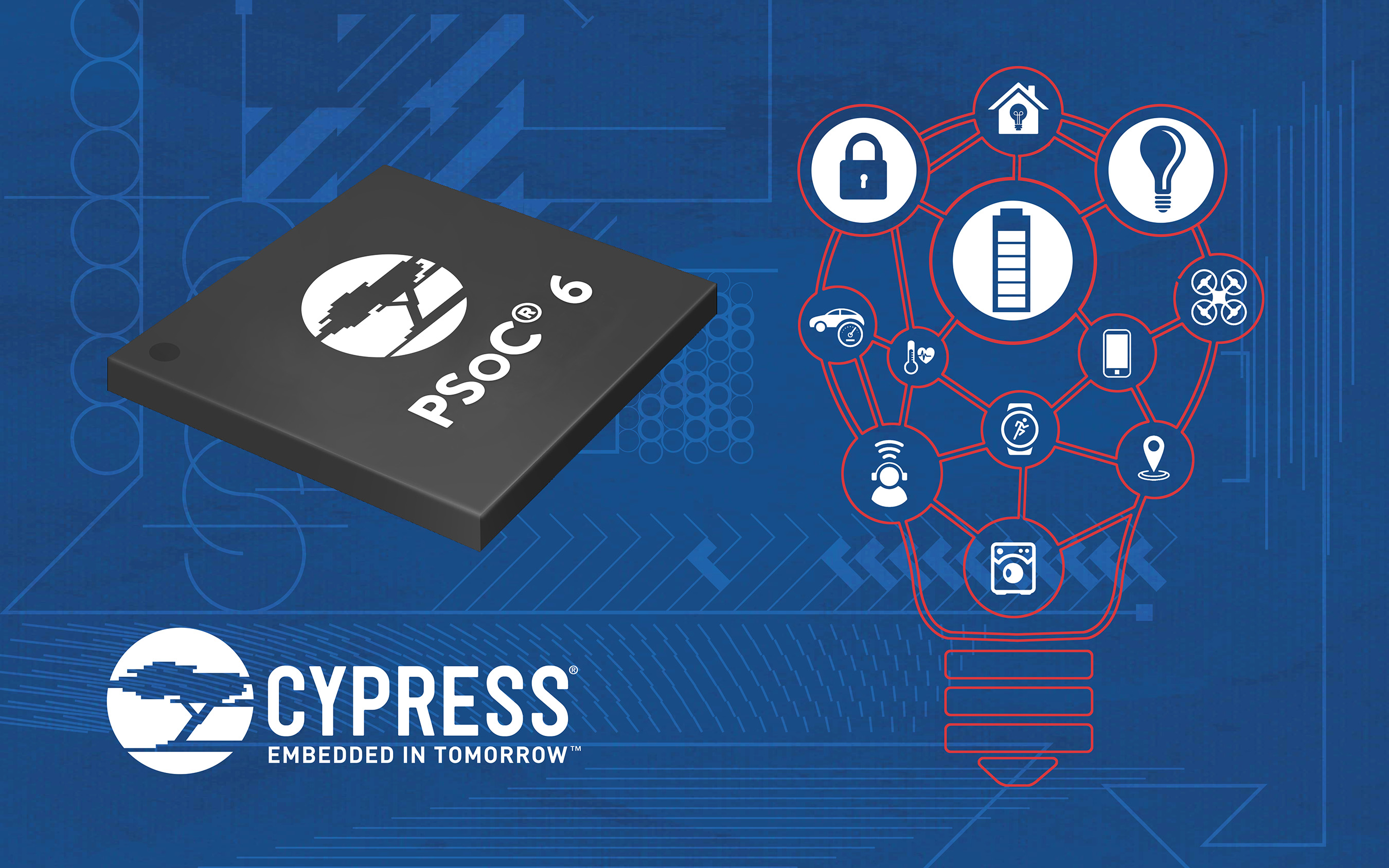 Pictured is Cypress� newest MCU architecture, purposely built for the Internet of Things.