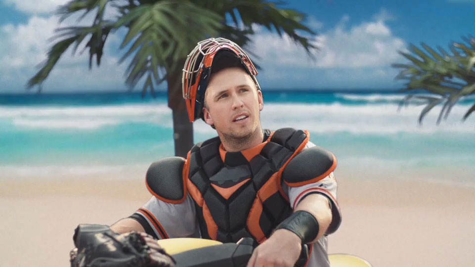 Buster Posey, three-time World Series Champion and four-time All-Star catcher, stars in new commercial from Esurance