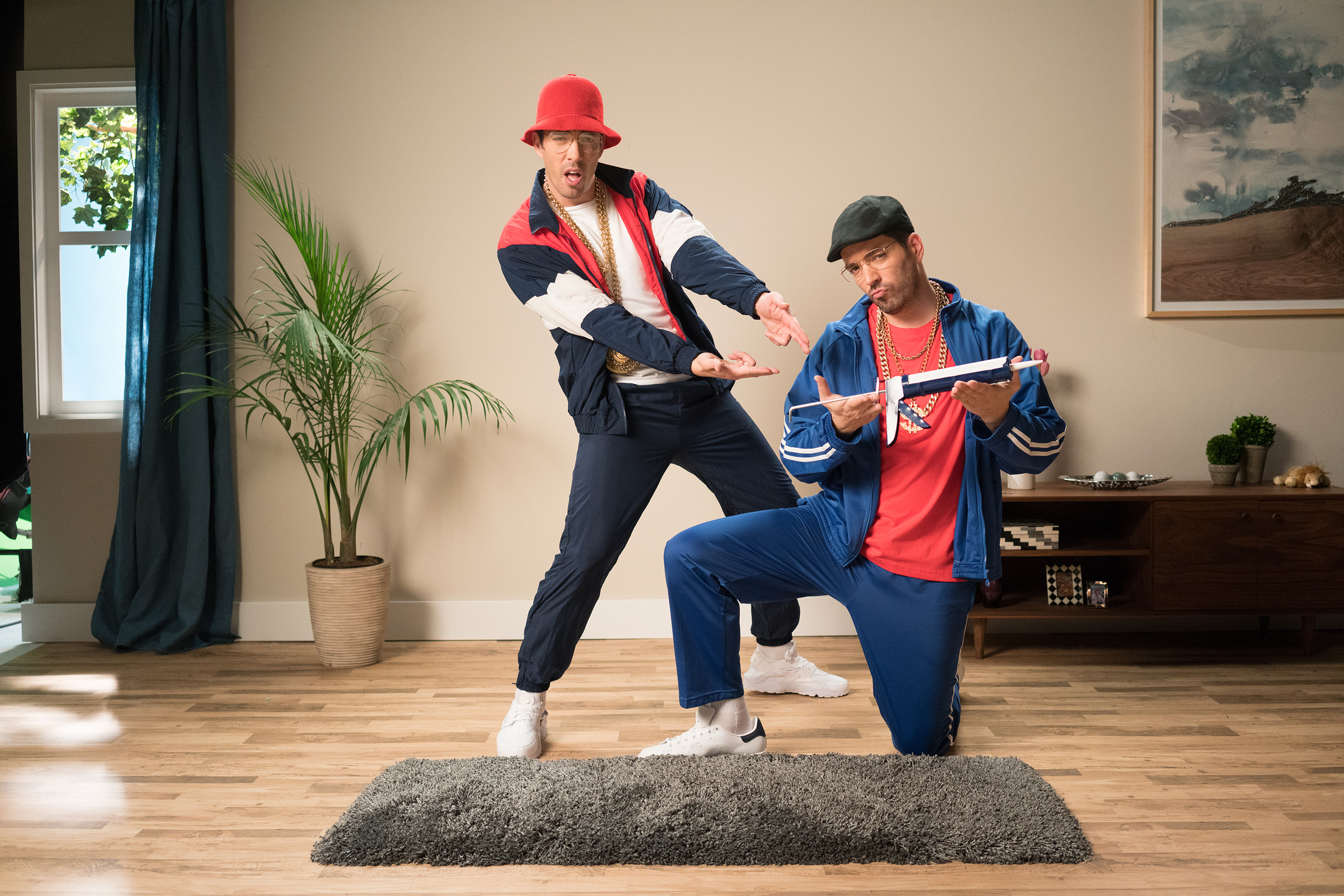Sneak peek: The Scott Brothers rap about creating a no-slip rug in music video series.