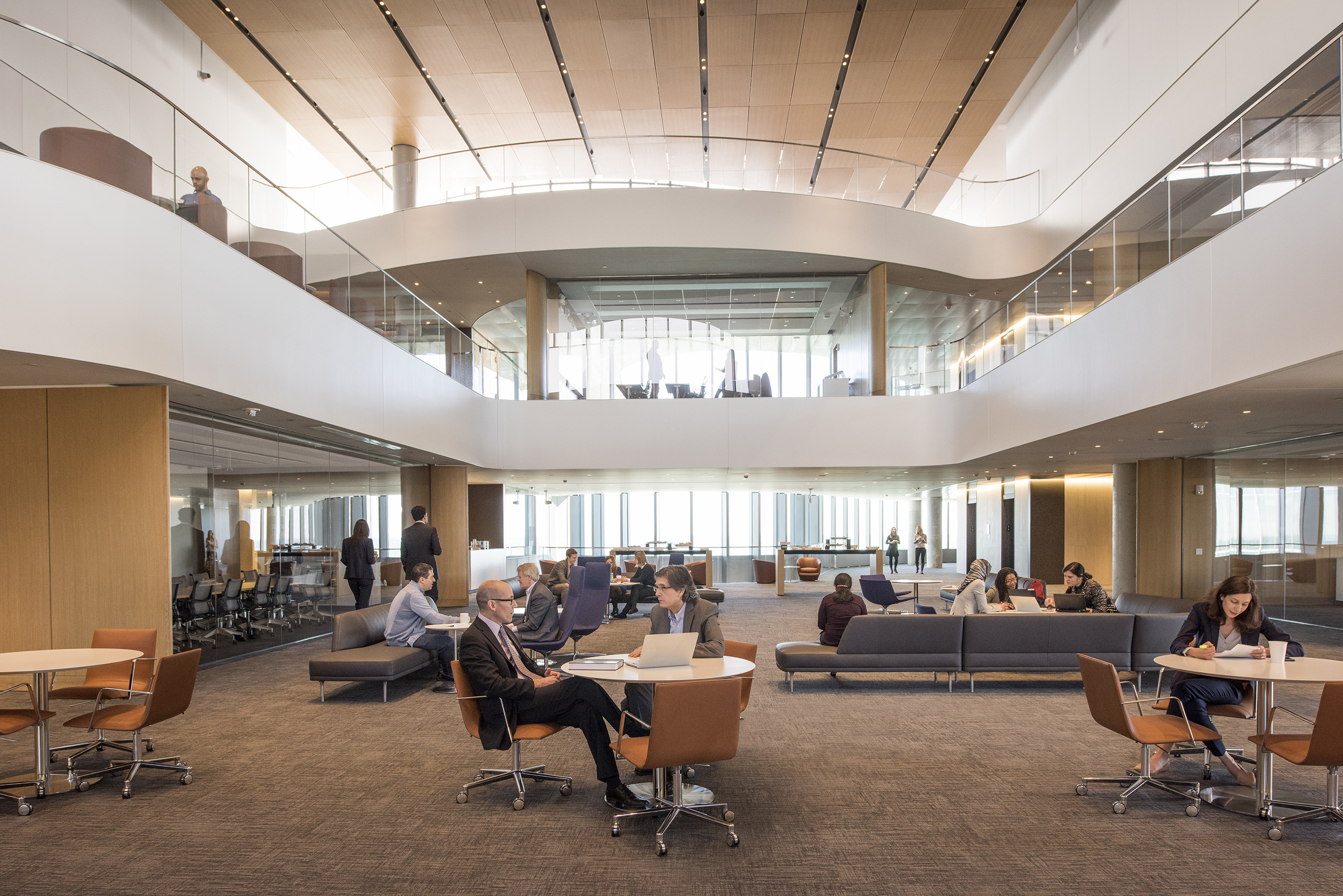 The Faculty Summit features two-story atrium and is designed to encourage partnership between faculty from various disciplines.