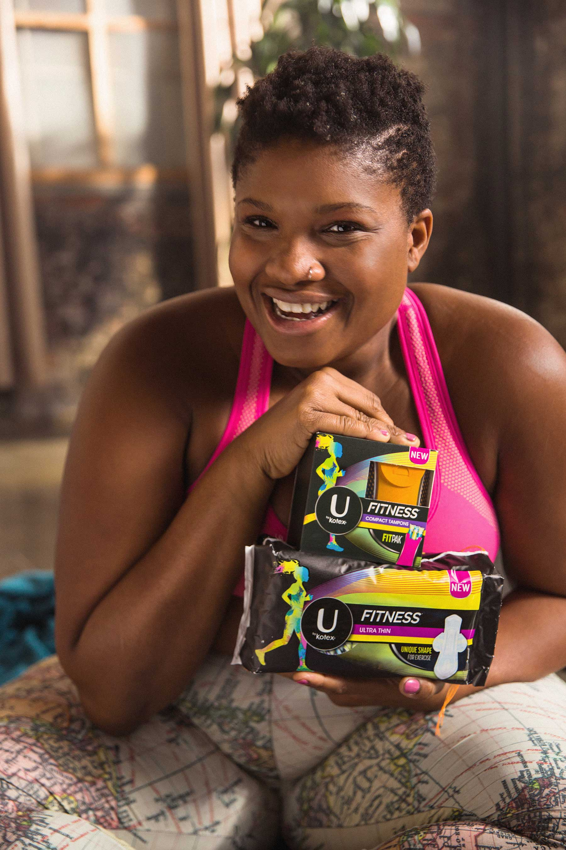 U by Kotex® is excited to partner with Jessamyn Stanley, a yoga teacher, body positivity advocate and writer, to help launch its NEW U by Kotex® FITNESS* line.