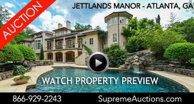 Exclusive Atlanta Mediterranean Showcase Villa to be Offered at Rare Luxury No Reserve Auction on October 26, with Supreme Auctions