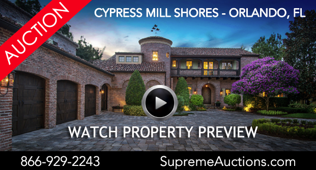 Luxury Orlando Lakefront Estate Headed to Luxury No-Reserve Auction with Supreme Auctions