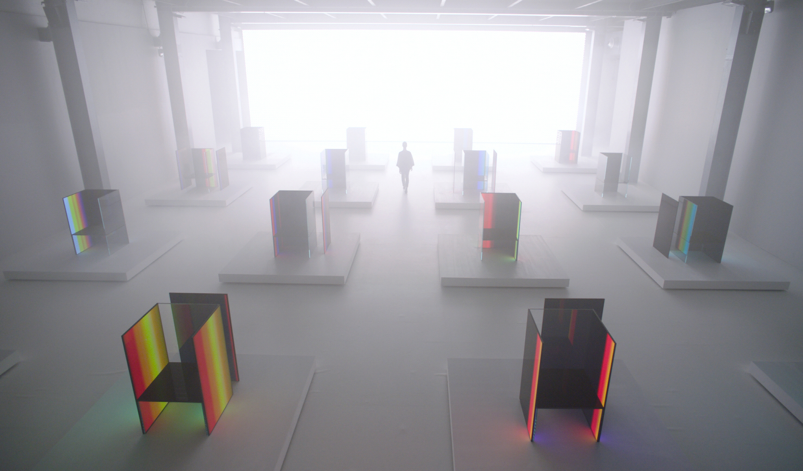 LG's pioneering OLED technology has been woven into Tokujin Yoshioka's poetic designs to create futuristic artwork