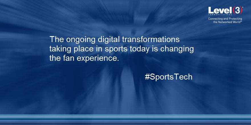 The ongoing digital transformation taking place in sports today is changing the fan experience.