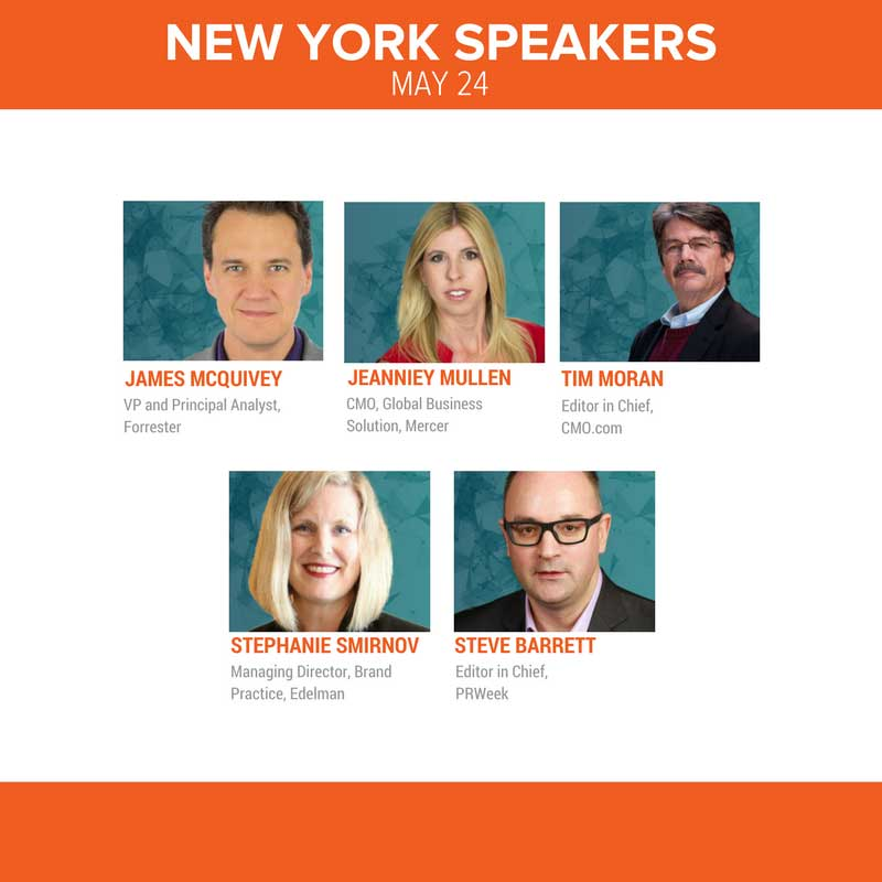 Join us in the Big Apple and chat with influencers from Mercer, CMO.com, Edelman, PRWeek and more