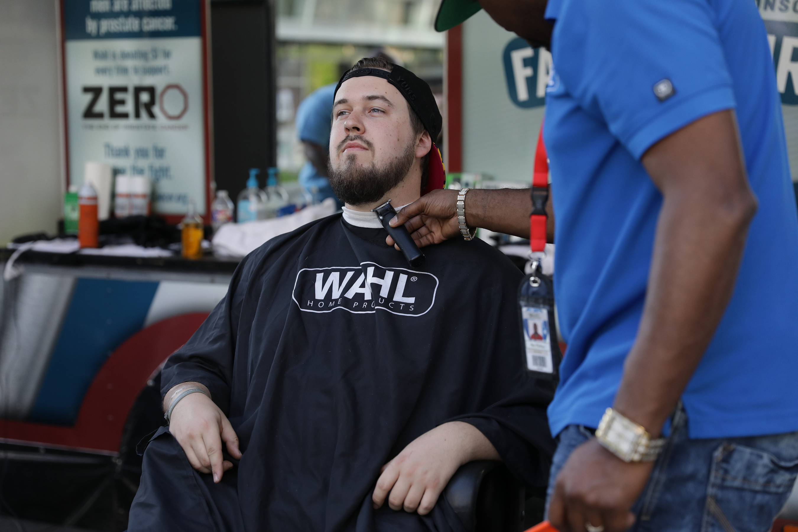 At each tour stop a team of master barbers will be offering whiskered citizens FREE facial hair trims to help fight prostate cancer.