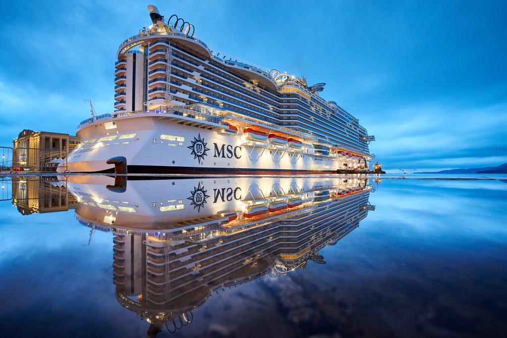 The innovative MSC Seaside began her journey in Trieste, Italy, before arriving in Miami.