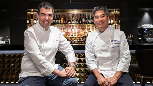 Celebrity Chefs Ramon Freixa and Roy Yamaguchi extend partnership with MSC Cruises for specialty restaurants aboard MSC Seaview.