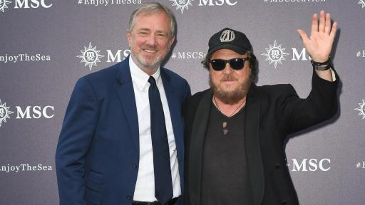 MSC Cruises Executive Chairman, Pierfrancesco Vago with 'Father of Italian blues' Zucchero Fornaciari, headliner of the events.