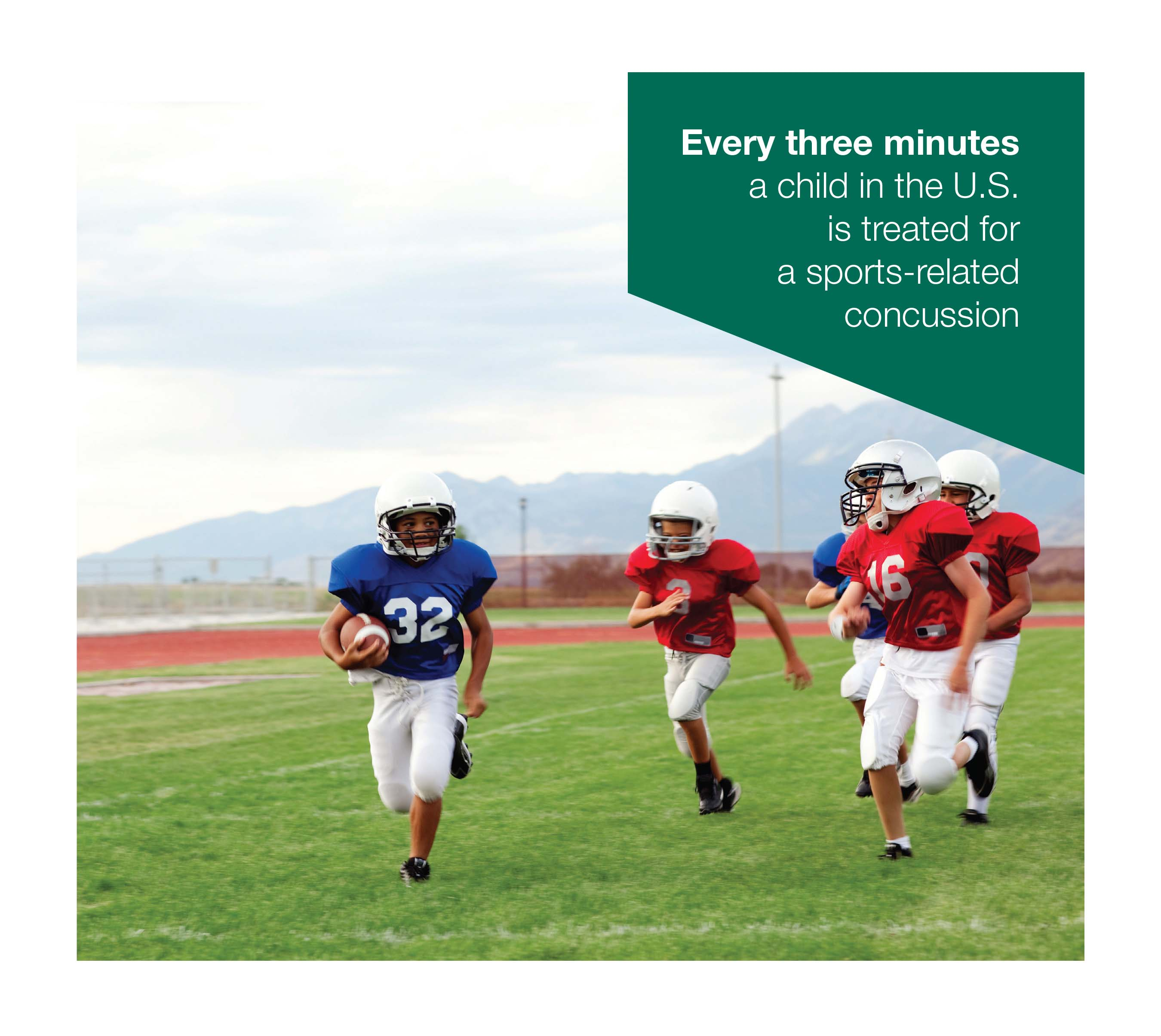 Every three minutes a child in the U.S. is treated for a sports-related concussion