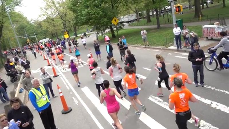 BTS at the 2017 SHAPE Women's Half Marathon in Central Park on Sunday, April 30