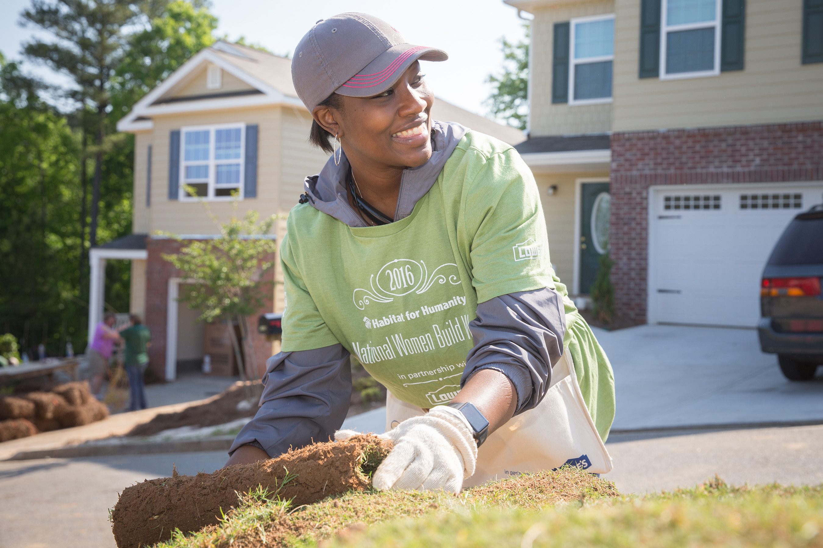 Thousands of women build up communities and each other with Habitat for Humanity and Lowe's