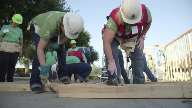 B-Roll from past National Women Build Week projects