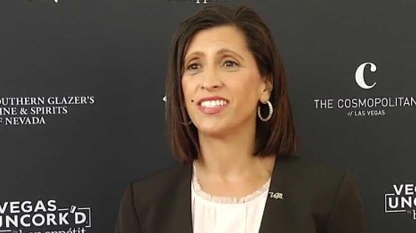 Valarie Segarra, Executive Director of Strategic Initiatives at Las Vegas Convention and Visitors Authority discusses Vegas Uncork'd (credit Las Vegas News Bureau)