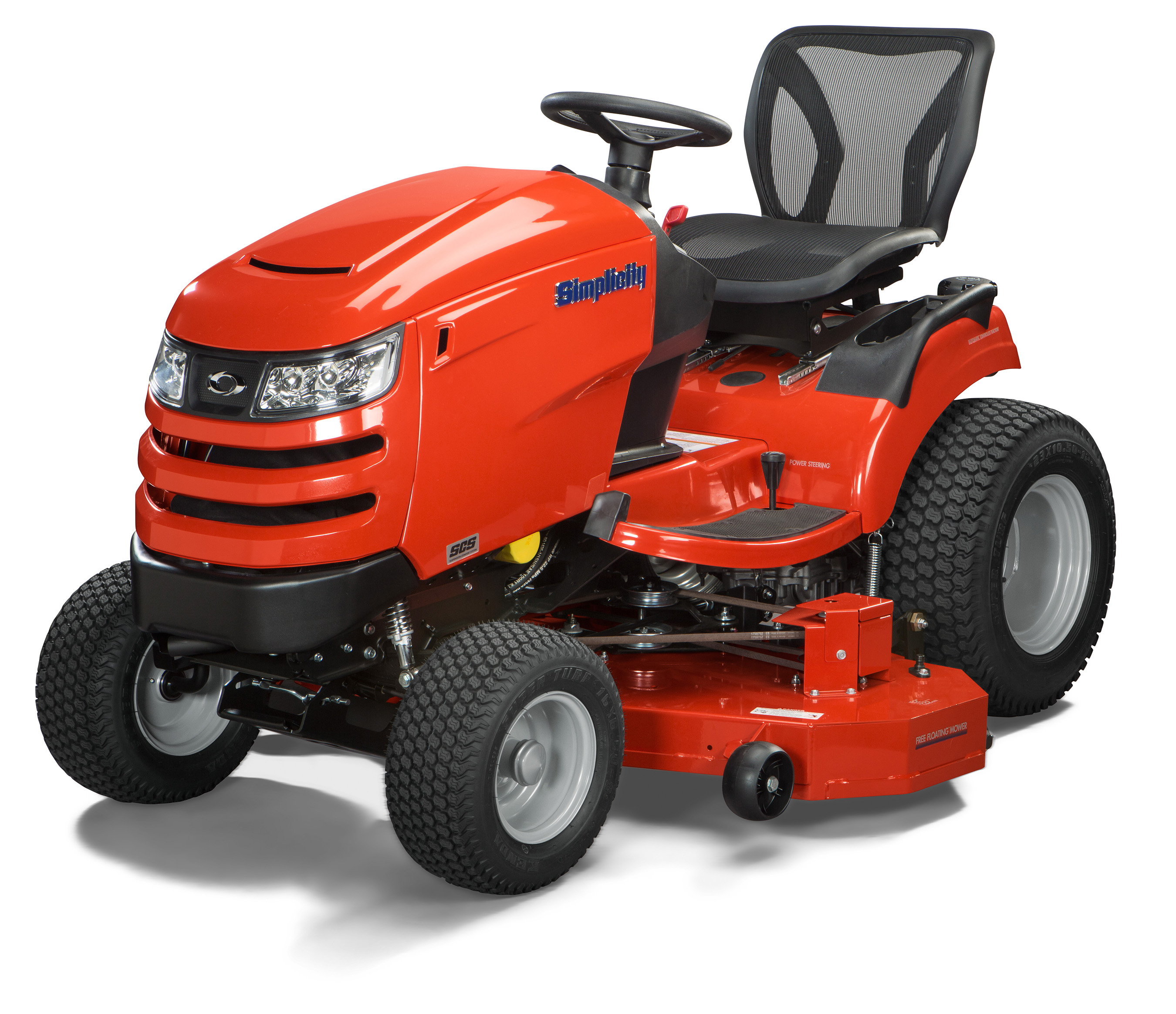 The Simplicity Prestige features a powerful Briggs & Stratton engine with electronic fuel injection, advanced traction control including a 4WD option, power steering and cruise control.