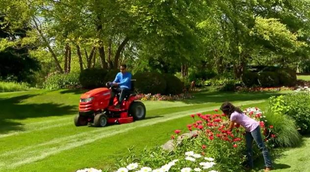 B-Roll of Simplicity Prestige Garden Tractor