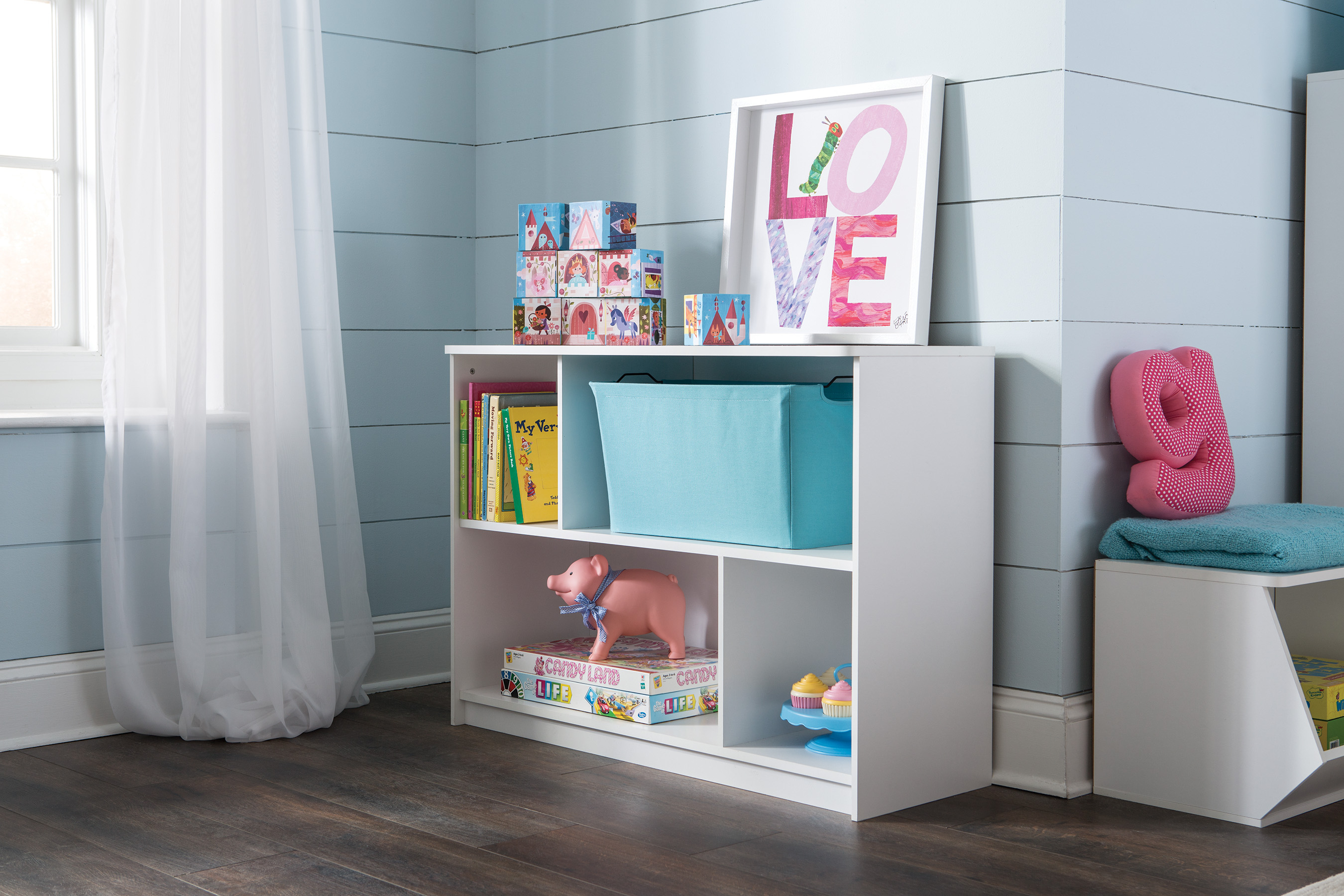 Ideal for storing supplies, clothes, books and Fabric Drawers and Bins