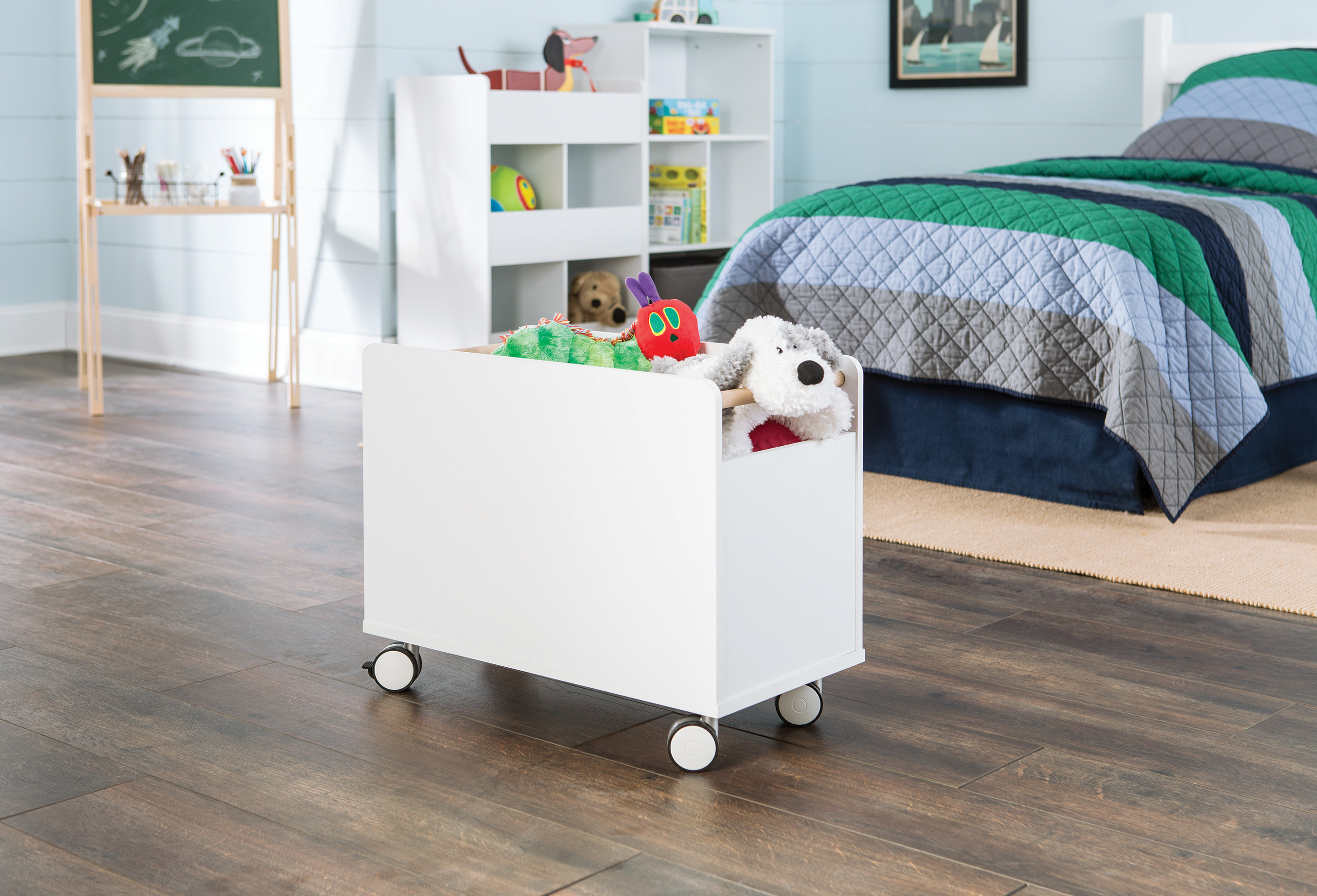 Collect and store toys in this portable toy chest