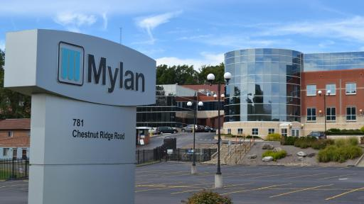 Mylan manufacturing facility in Morgantown, West Virginia