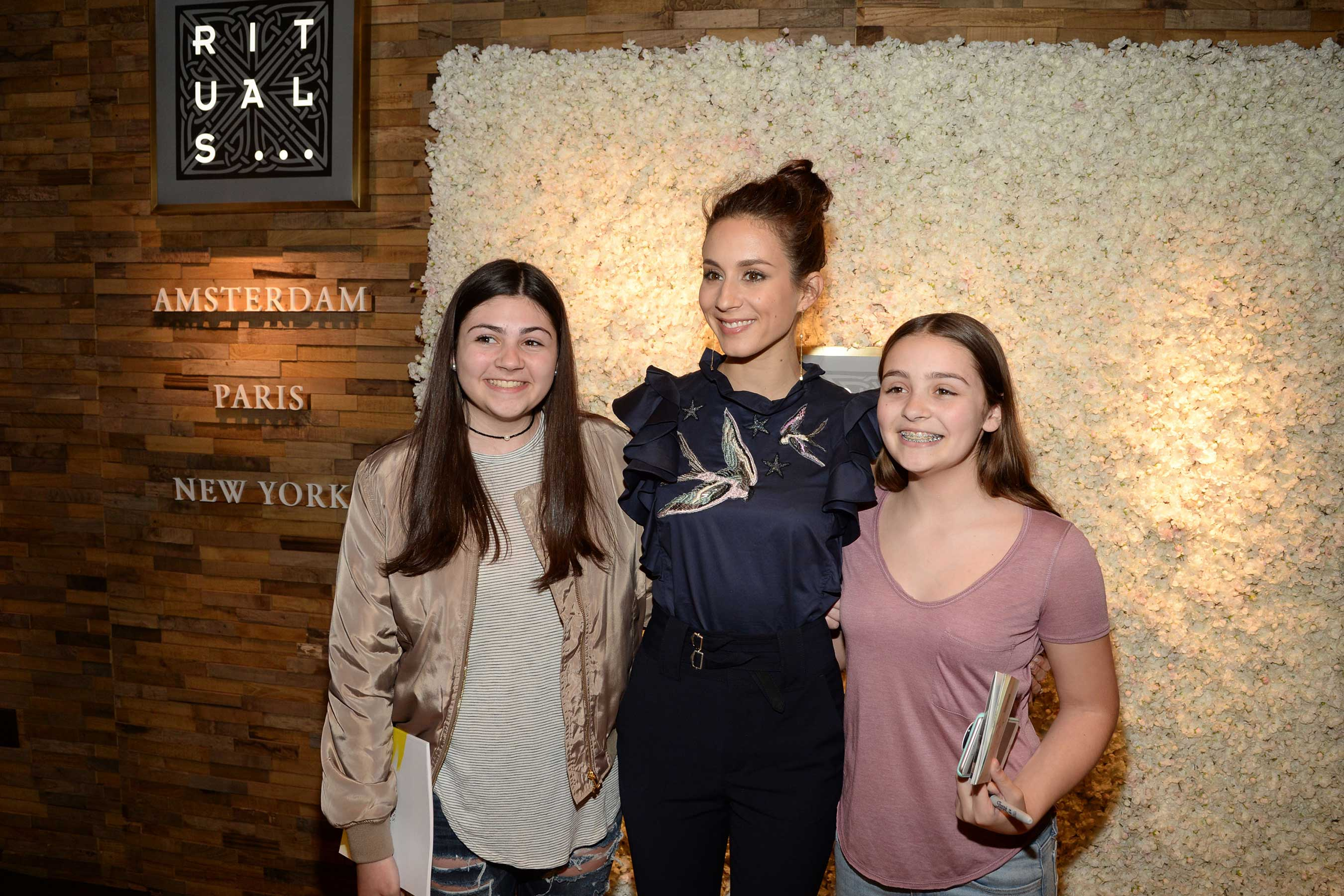 Troian Bellisario meets with fans at Rituals Cosmetics Fifth Avenue in NYC