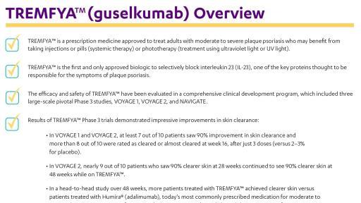 Janssen Announces U.S. FDA Approval of TREMFYA ...