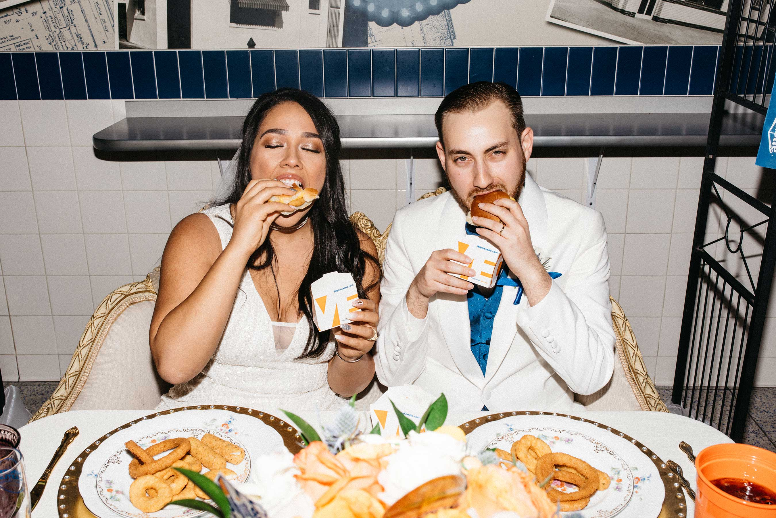 Sliders are for lovers. Obviously, the event was catered with White Castle fare.