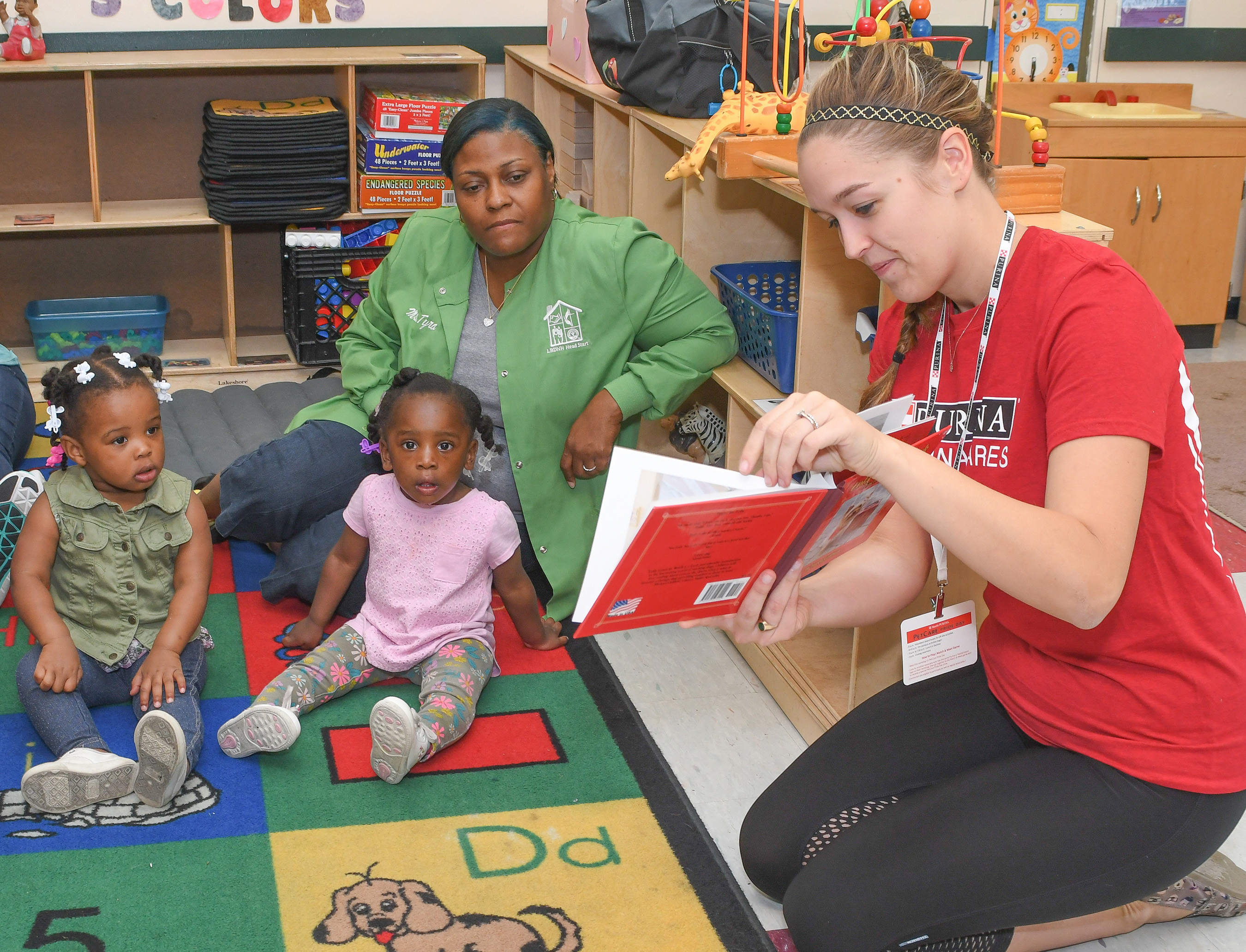 At Lessie Bates Davis Neighborhood House in East St. Louis, Illinois, employees assembled humane education materials and read books about responsible pet care and shelter pets.